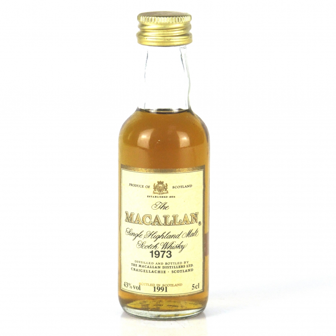 Macallan 18 Year Old 1973 Miniature 5cl