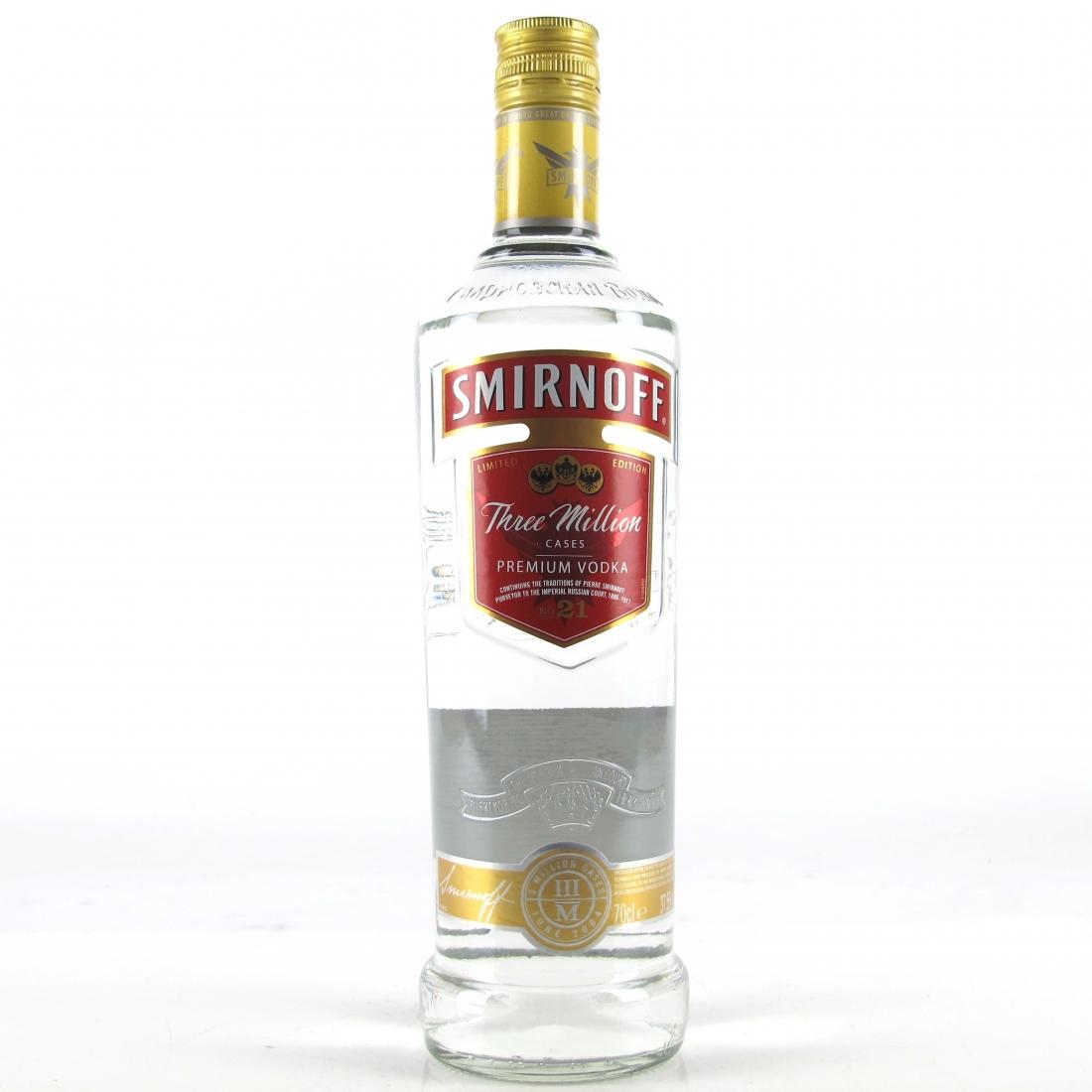 Smirnoff Vodka Three Million Cases