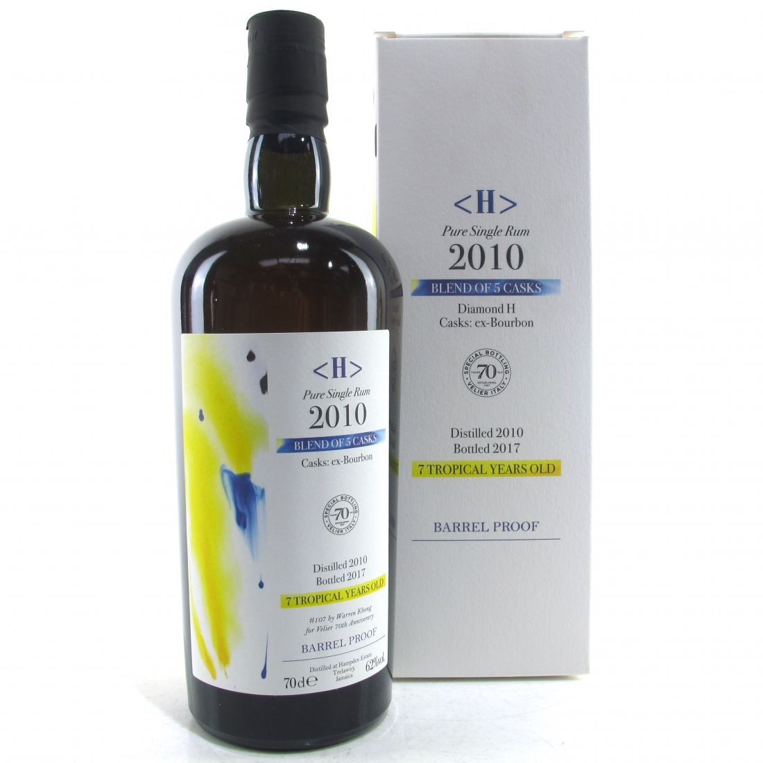Hampden 2010 Pure Single 7 Year Old Rum / Velier 70th Anniversary