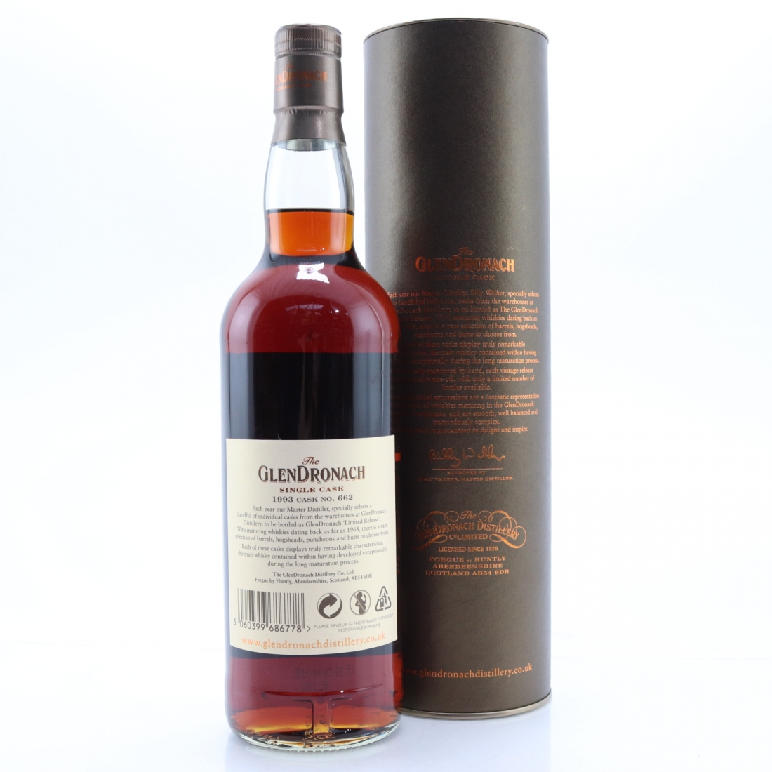 Glendronach 1993 Single Cask 25 Year Old #662 / 25th Anniversary of Whisky.de