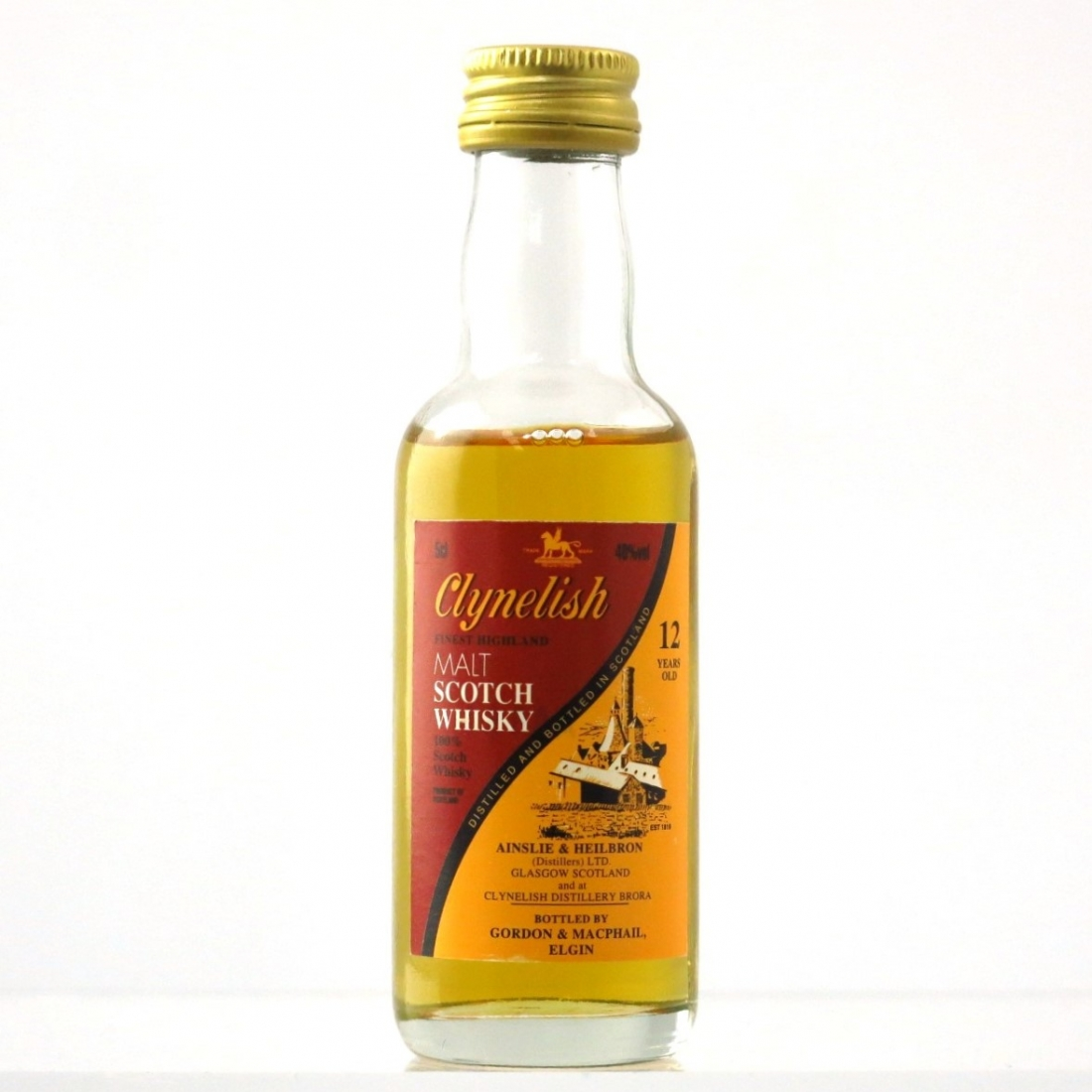 Clynelish 12 Year Old Ainsle and Heilbron 5cl Miniature