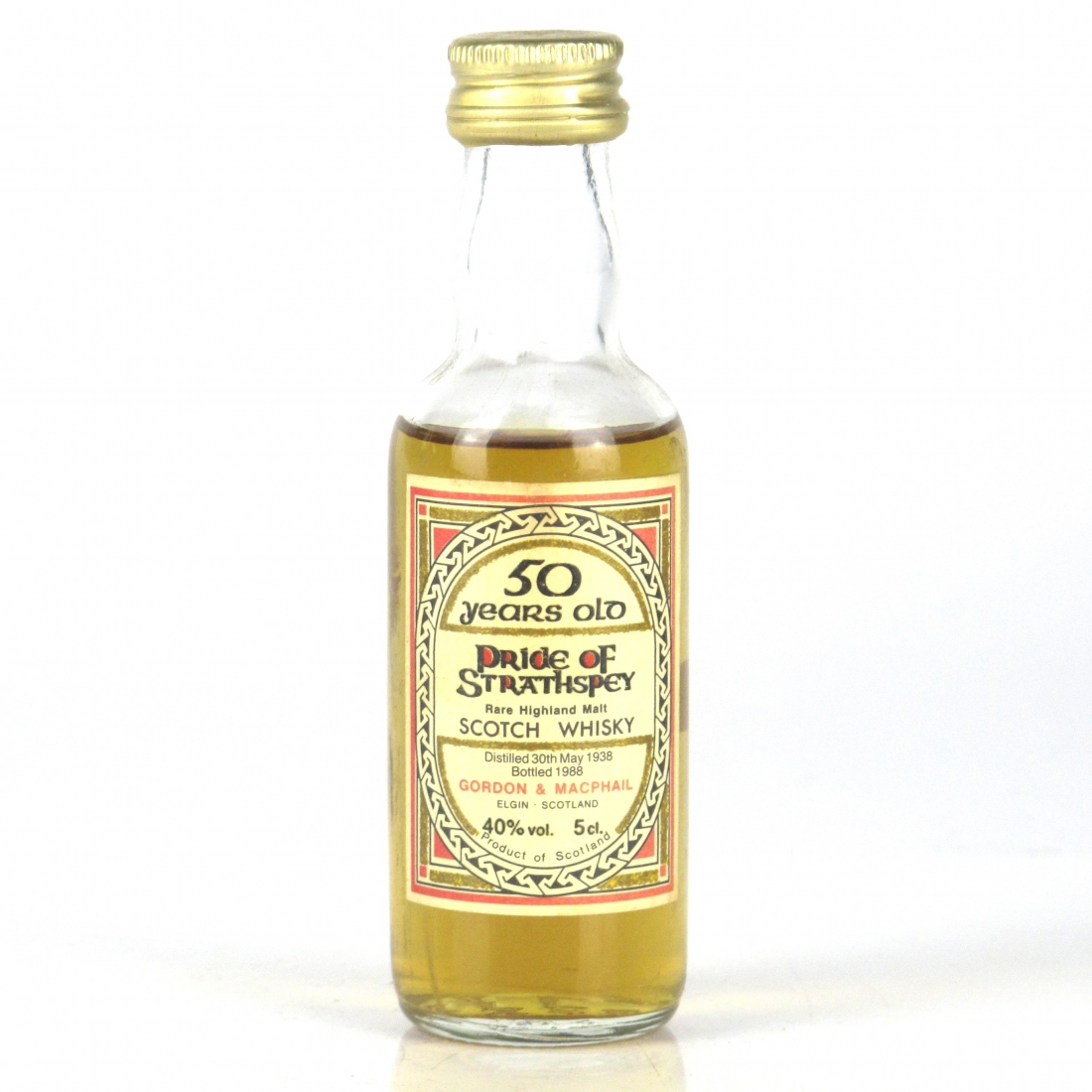 Pride of Strathspey 1938 Gordon and MacPhail 50 Year Old Miniature 5cl