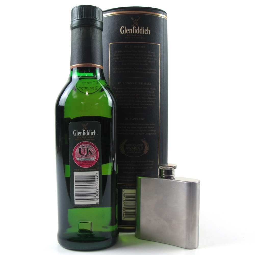 Glenfiddich 12 Year Old 35cl / Including Flask