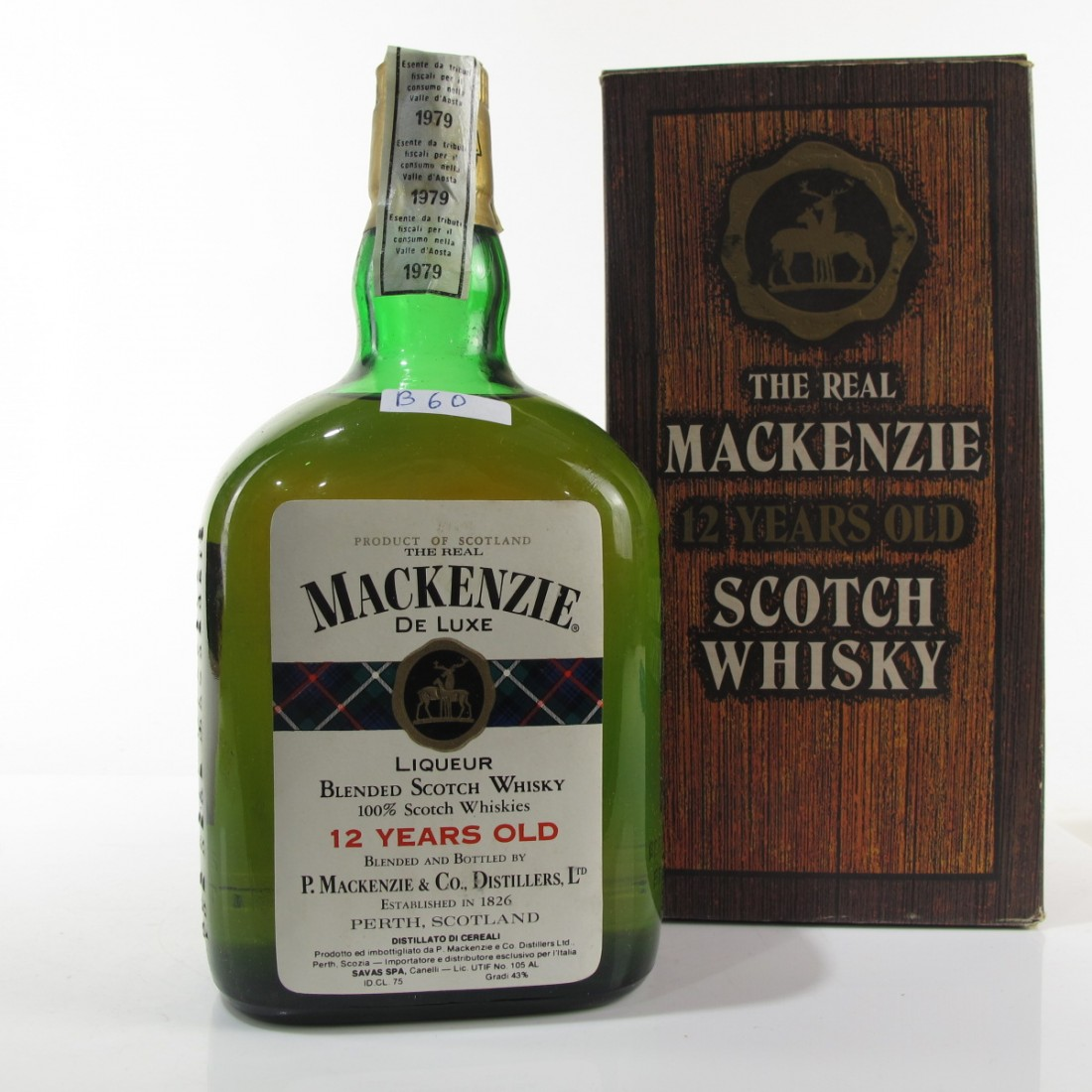 The Real Mackenzie 12 Year Old De Luxe Scotch Whisky 1970s