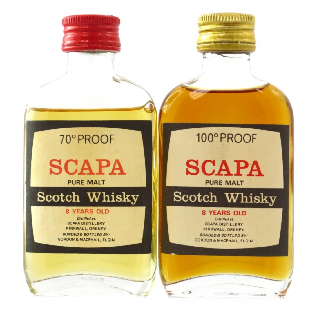 Scapa 8 Year Old 1970s Miniatures 2 x 5cl