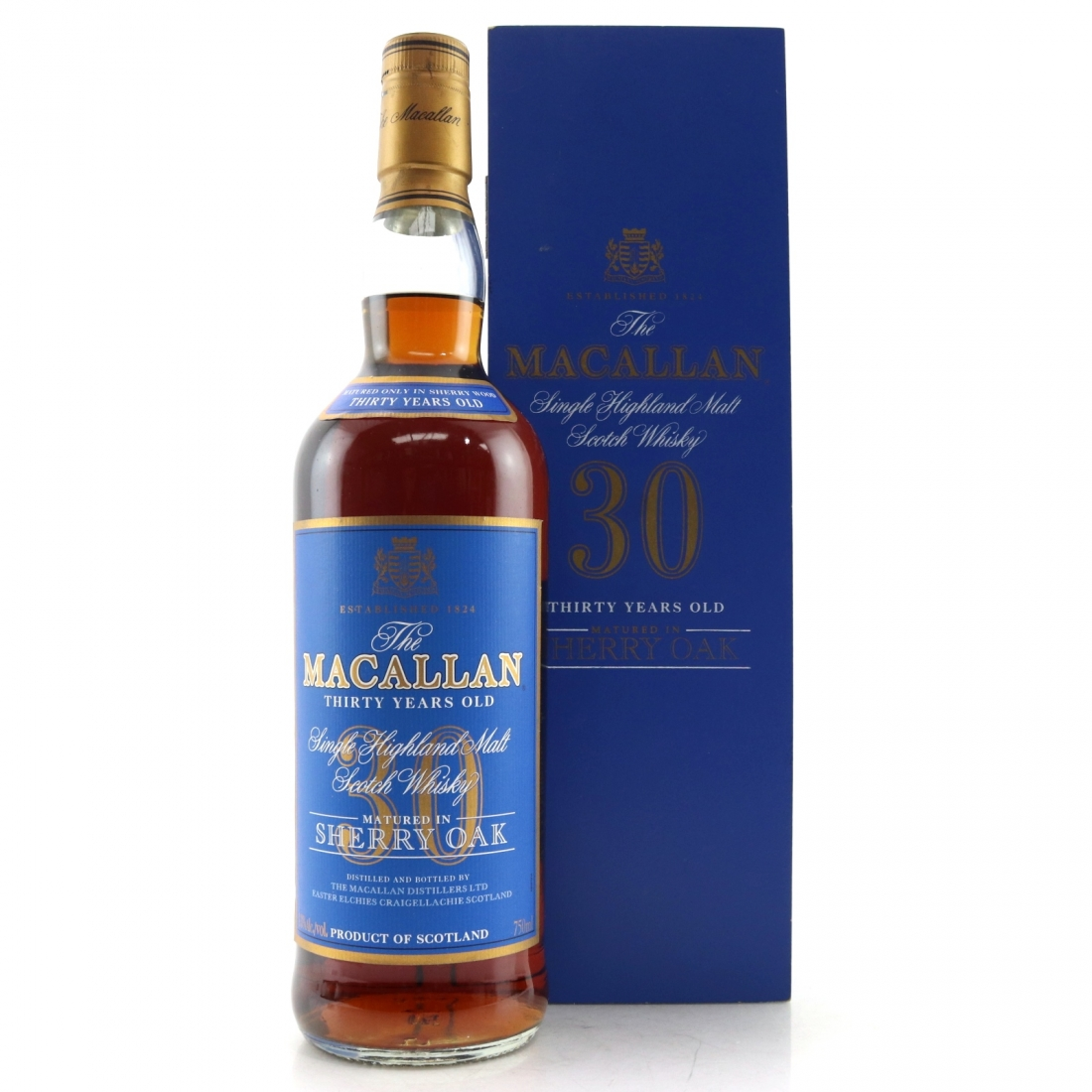 Macallan 30 Year Old Sherry Oak 75cl / US Import