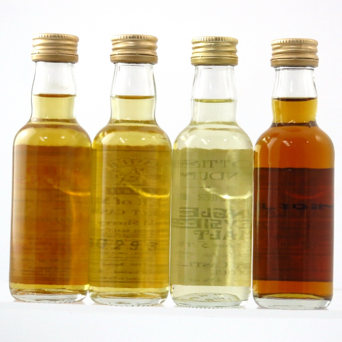 Speyside Single Malts Miniatures 4 x 5cl / including Macallan 12 Year Old
