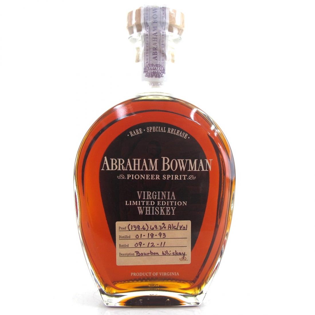 Abraham Bowman 1993 Cask Strength 18 Year Old Bourbon