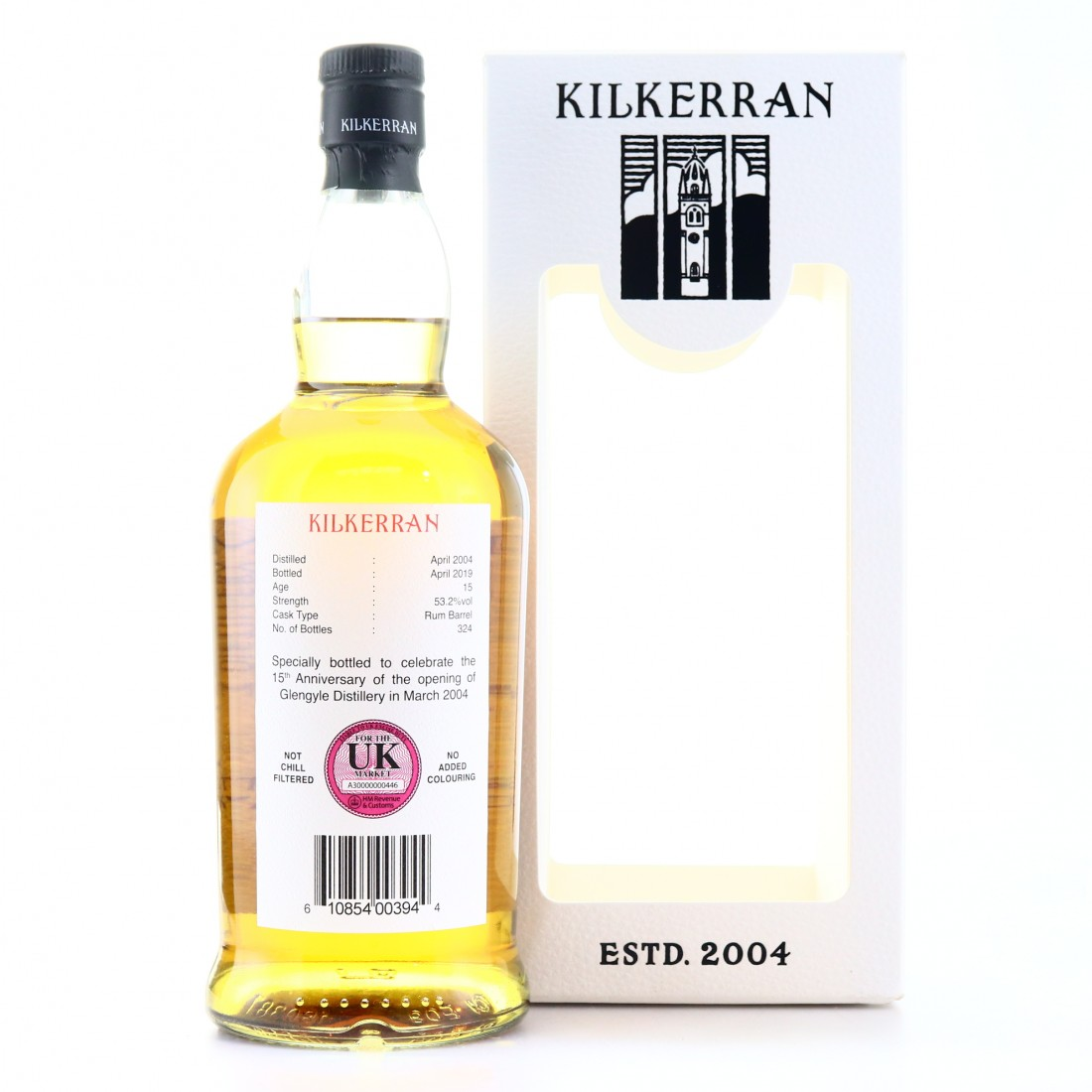 Kilkerran 2004 Single Rum Cask 15 Year Old / 15th Anniversary