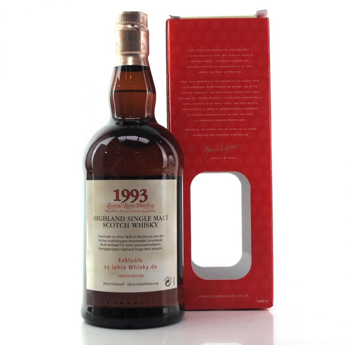 Glenfarclas 1993 Oloroso Sherry Hogsheads / Whisky.de 25 Anniversary