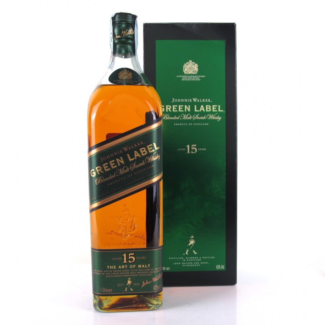 Johnnie Walker Green Label 15 Year Old 1 Litre