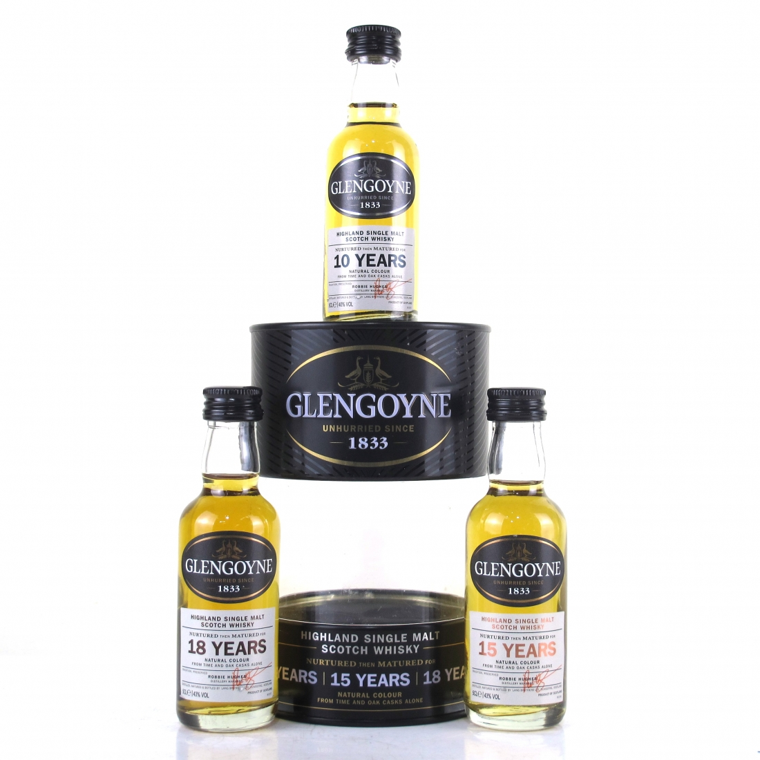 Glengoyne 10, 15, 18 Year Old Miniature Pack 3 x 5cl