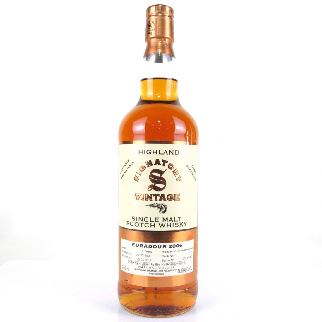 Edradour 2006 Signatory Vintage 11 Year Old 75cl / US Import