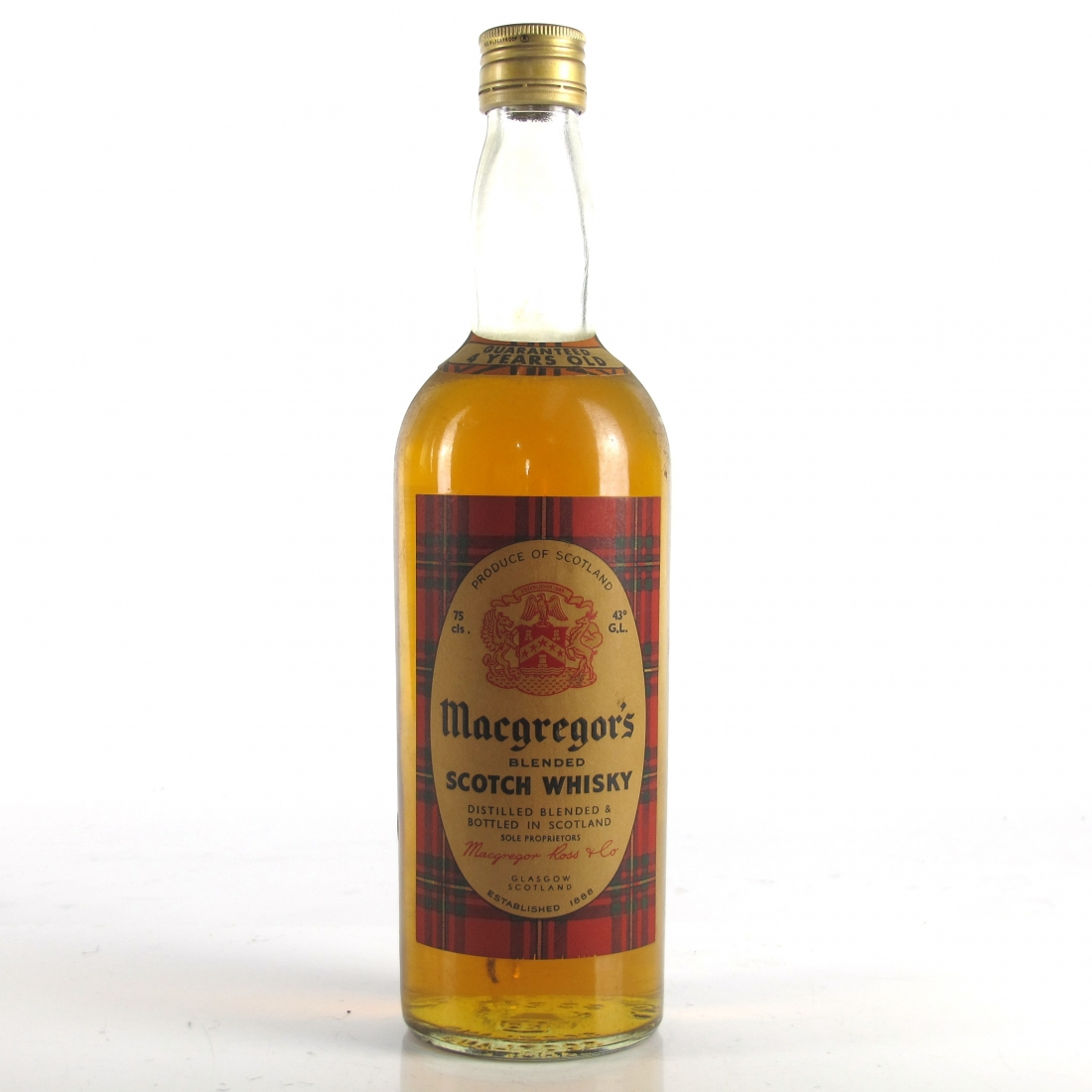 MacGregor's 4 Year Old Scotch Whisky​ 1970s