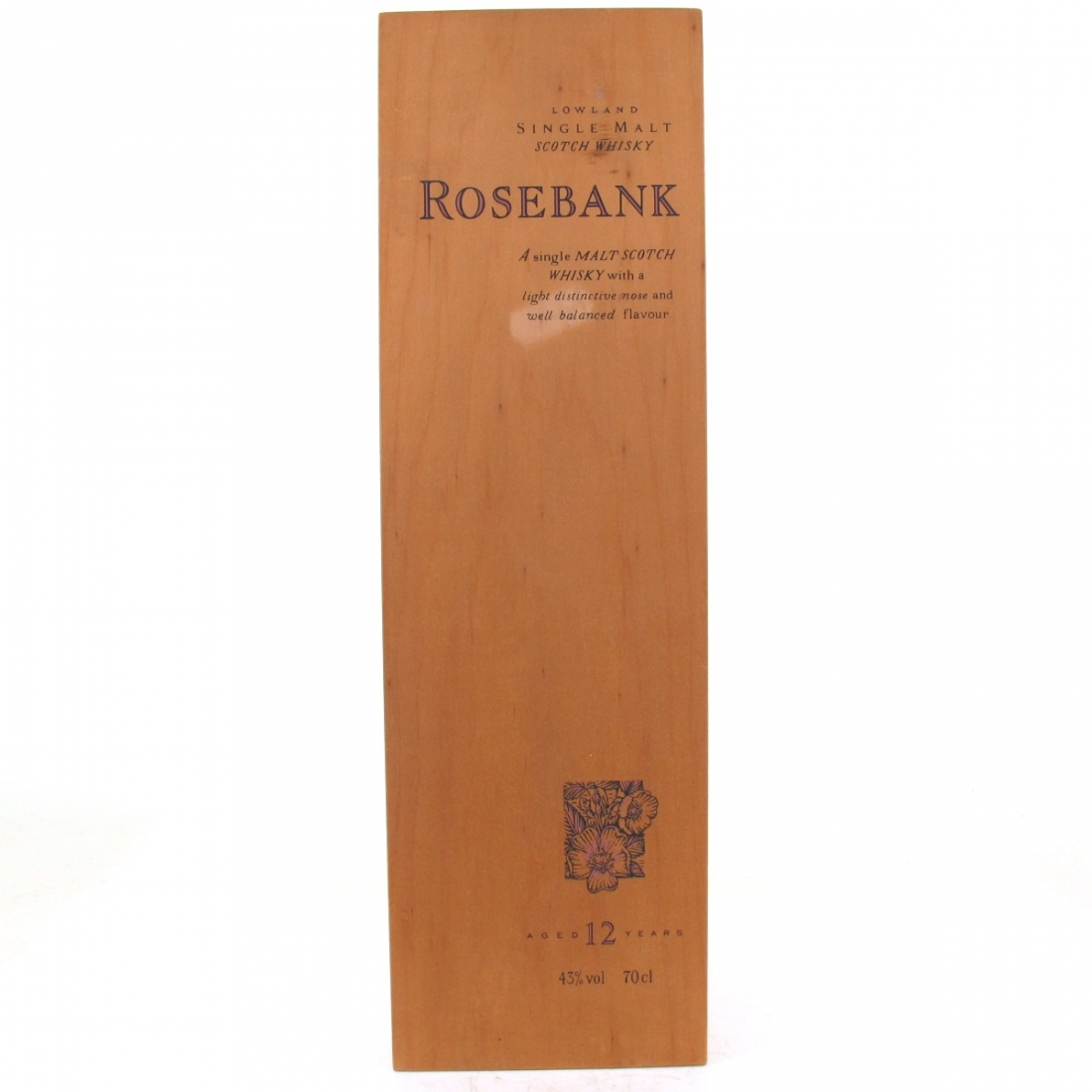 Rosebank 12 Year Old Flora and Fauna Box / Wooden Box NO BOTTLE