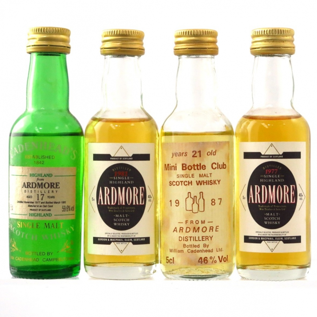 Ardmore Miniature Selection 4 x 5cl
