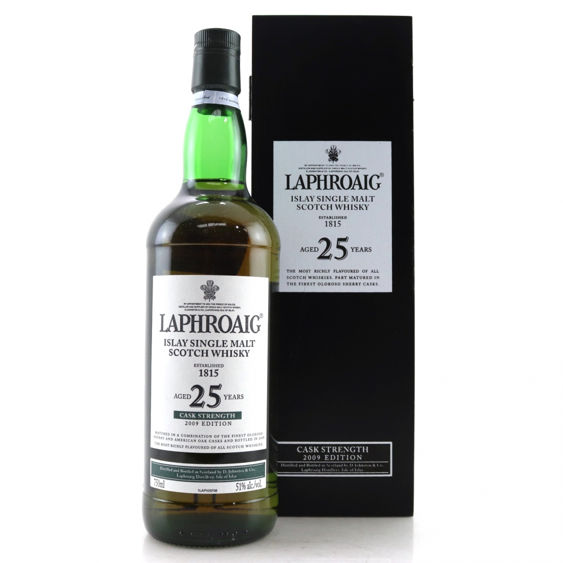 Laphroaig 25 Year Old Cask Strength 2009 Edition 75cl / US Import