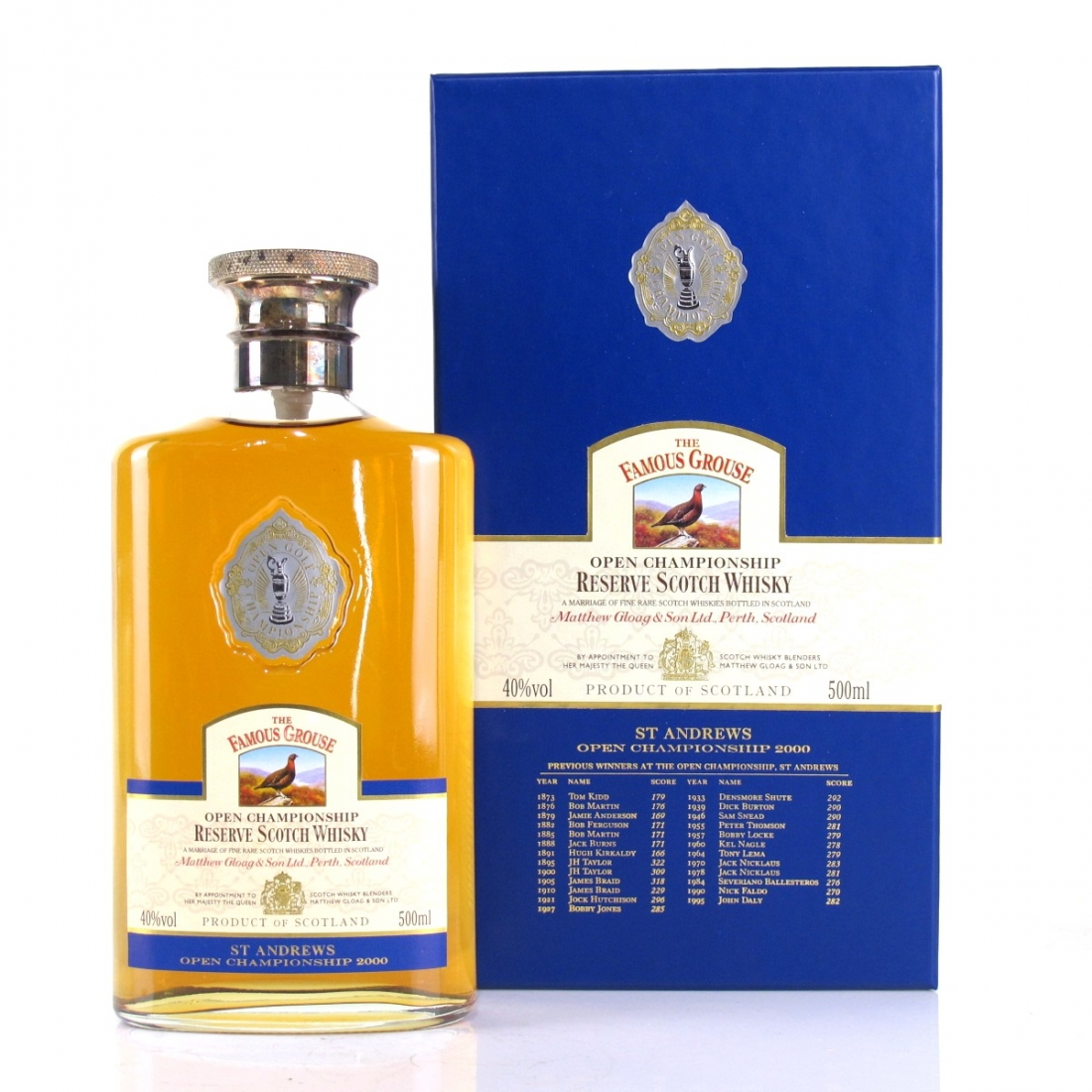 Famous Grouse St Andrews Open Championship 2000 50cl