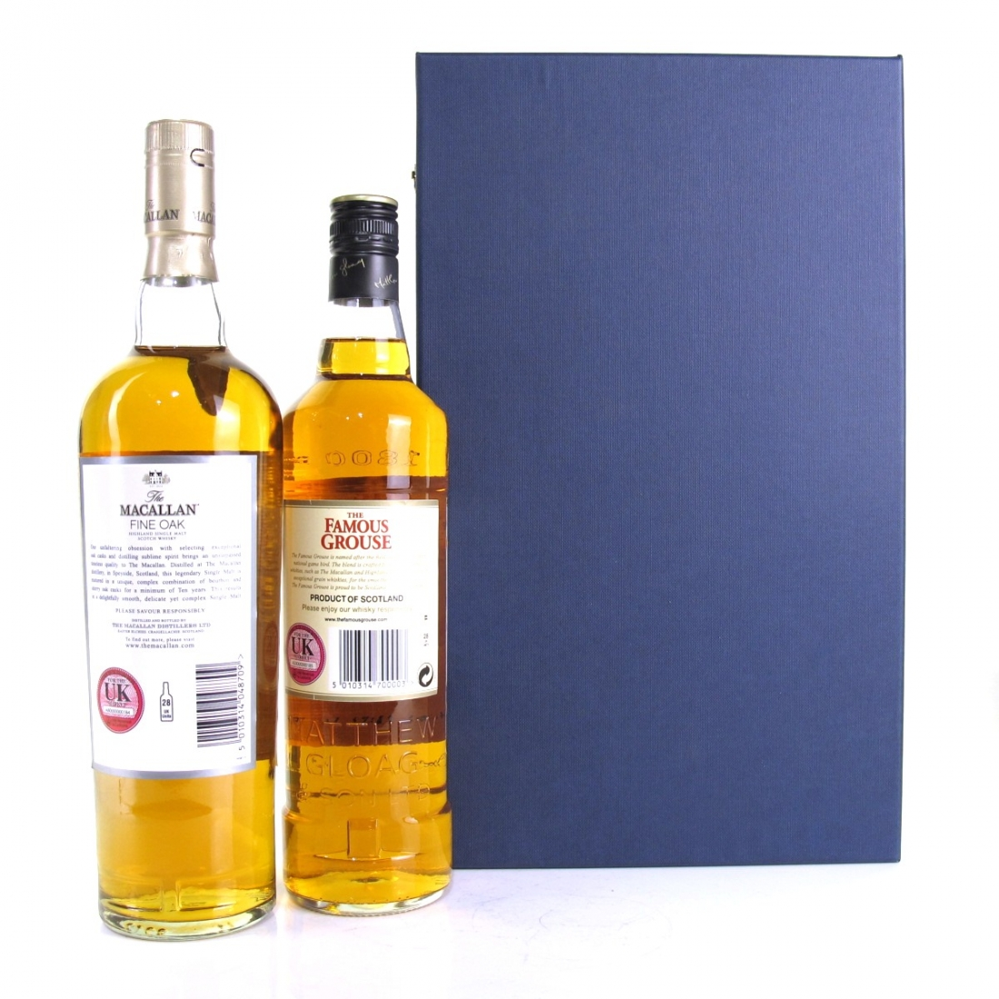 Macallan 10 Year Old Fine Oak and Famous Grouse / Staff Gift Pack
