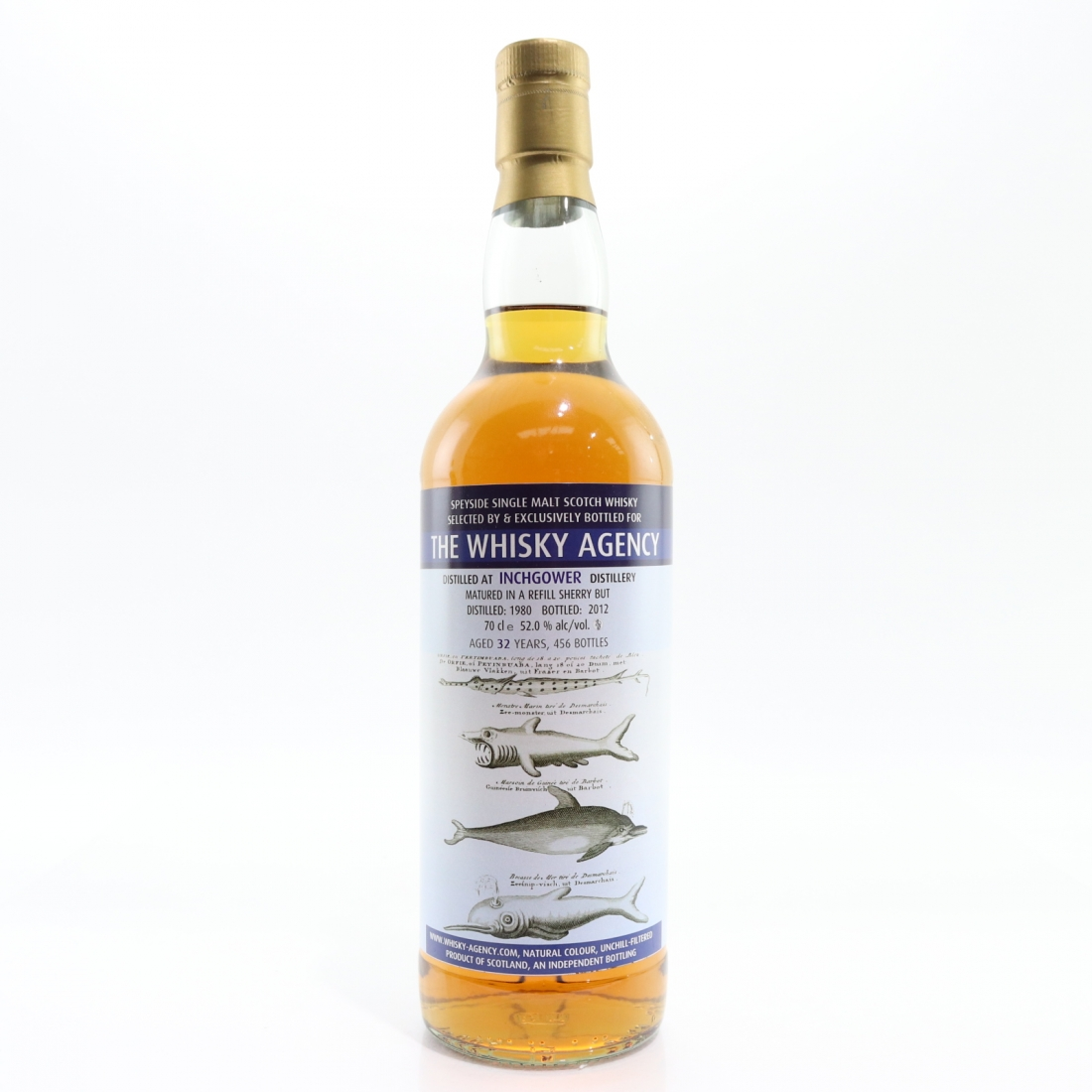 Inchgower 1980 Whisky Agency 32 Year Old