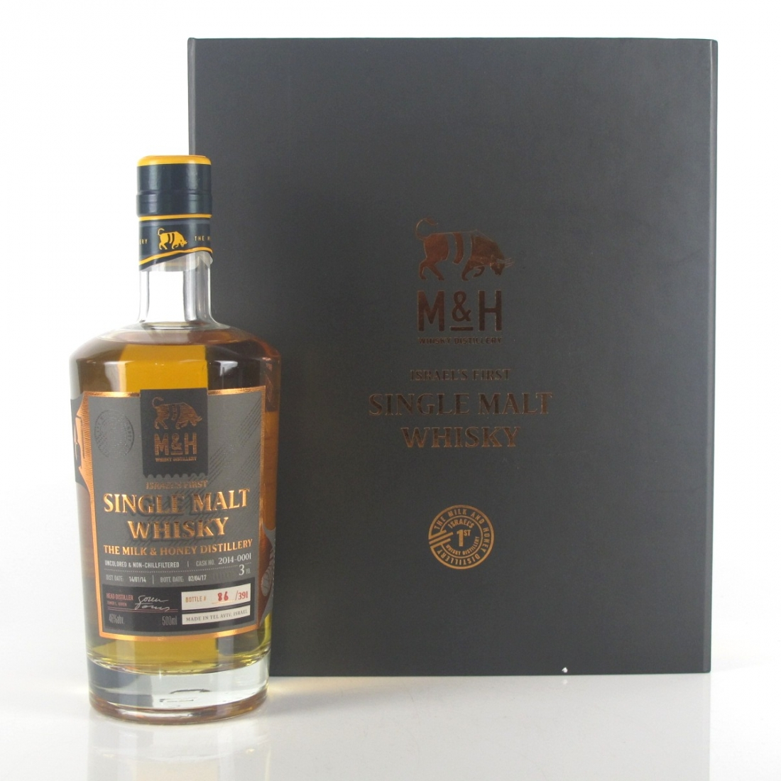 Milk & Honey Israel's First Single Malt Whisky : Bottle #086