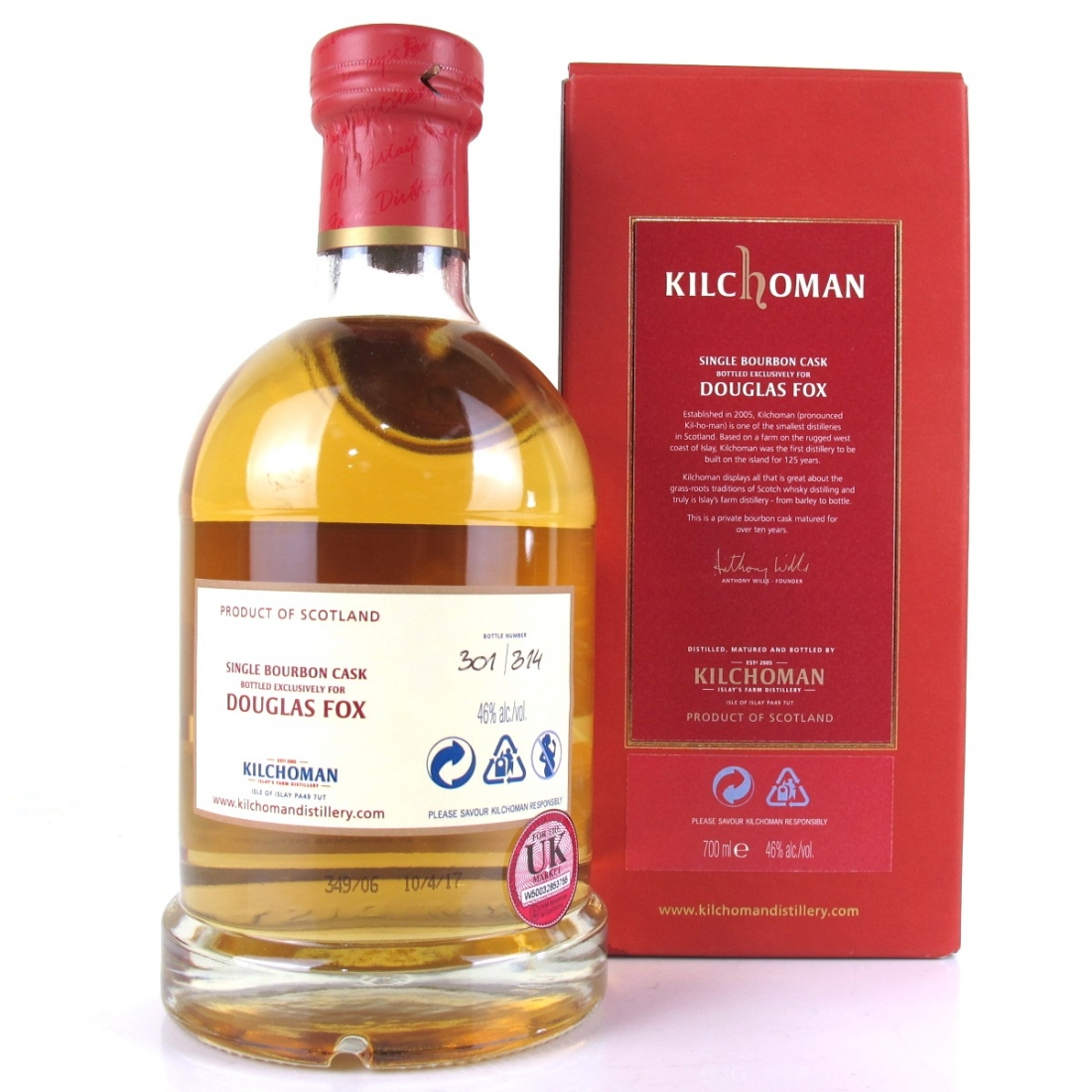 Kilchoman 2006 Private Cask Release 10 Year Old / Douglas Fox