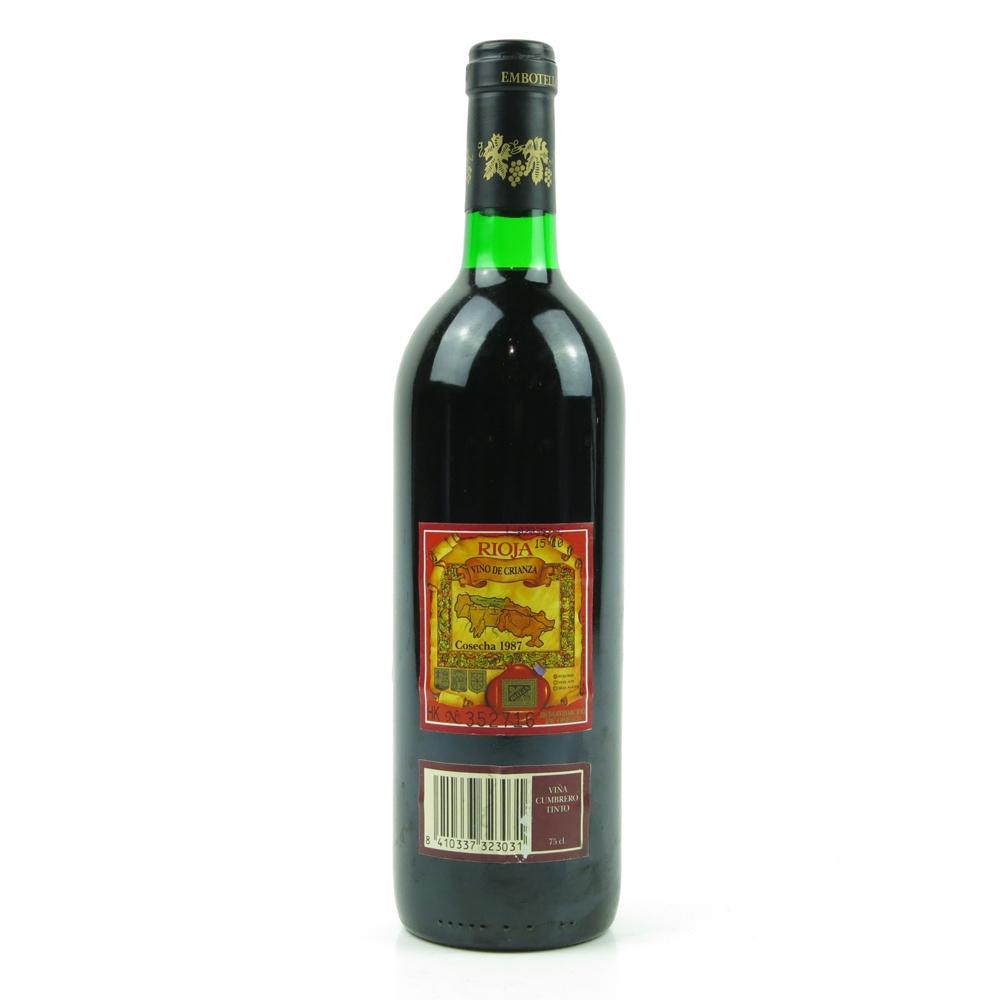 Viña Cumbrero 1987 Rioja Crianza