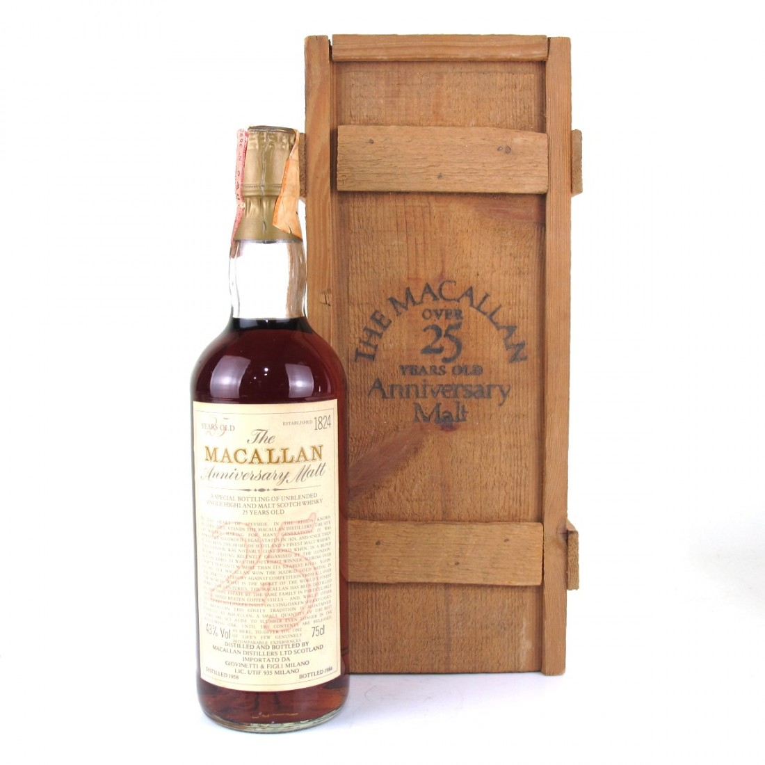 Macallan 1958 Anniversary Malt 25 Year Old / Giovinetti Import