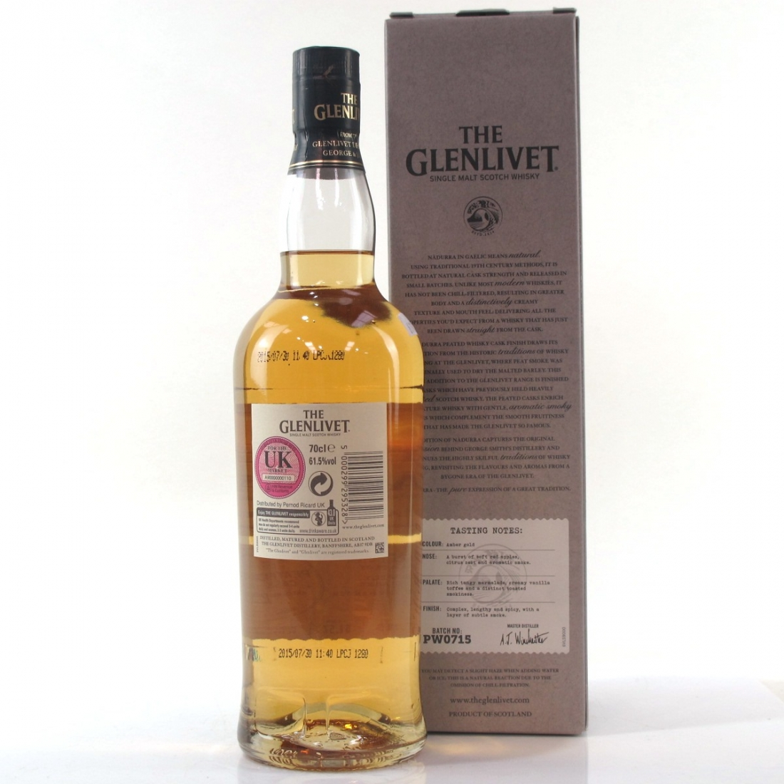Glenlivet Nadurra Peated Whisky Cask Finish