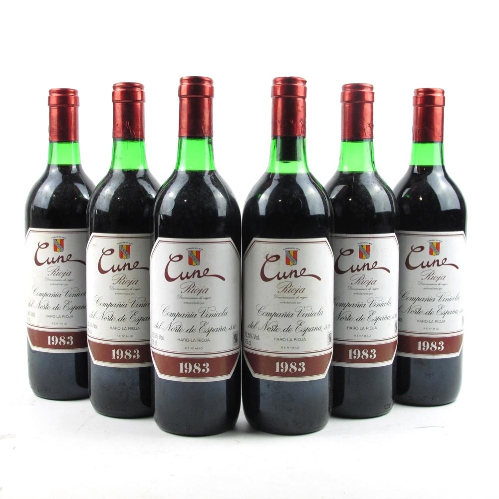 "CVNE ""Cune"" 1983 Rioja Tinto 6x75cl"