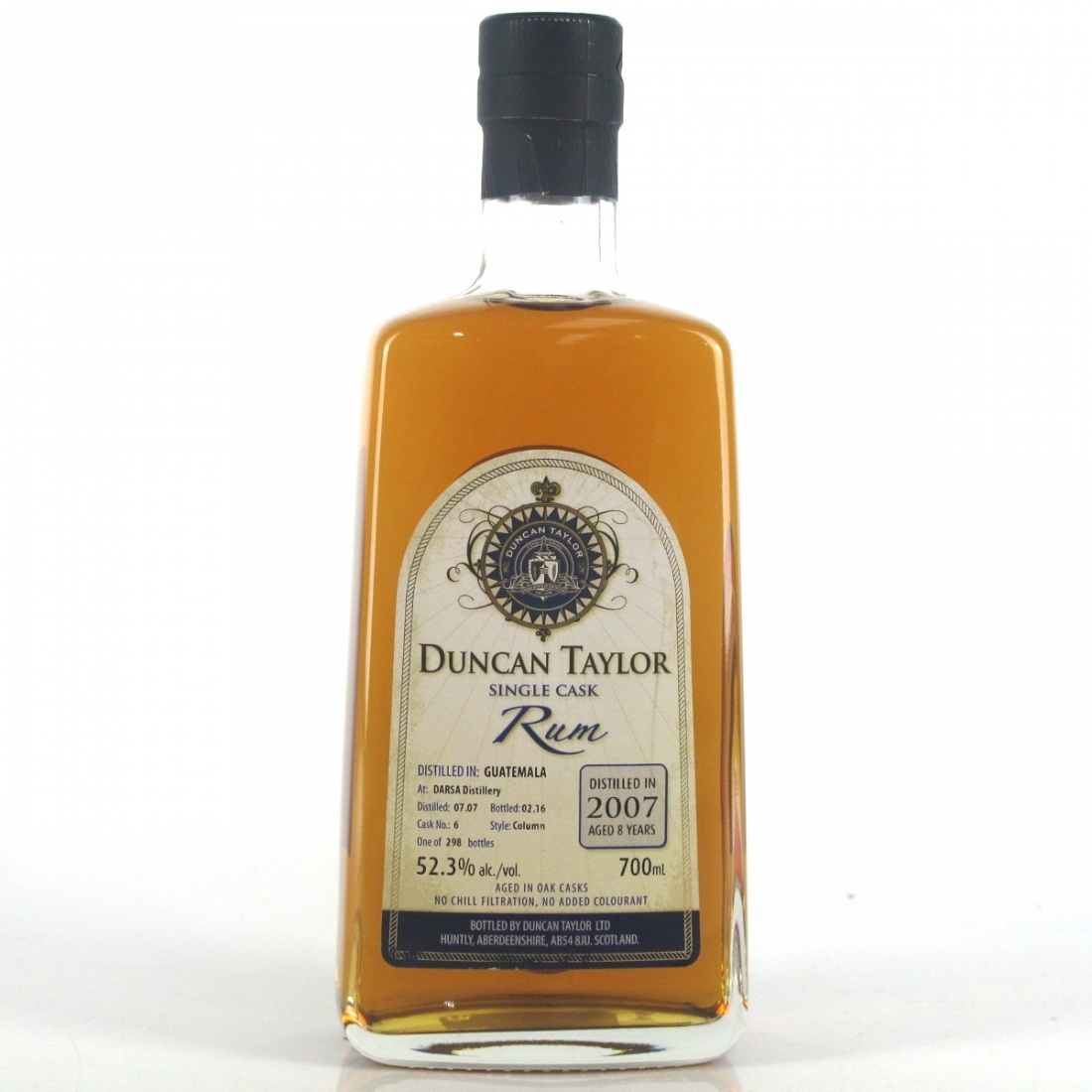 Darsa 2007 Duncan Taylor 8 Year Old Single Cask Rum