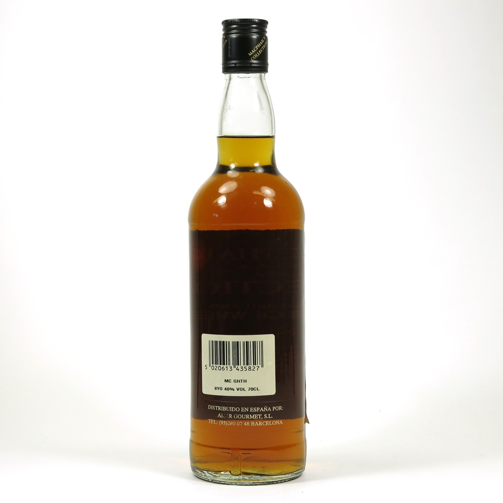 Glenrothes 8 Year Old Gordon and Macphail Back
