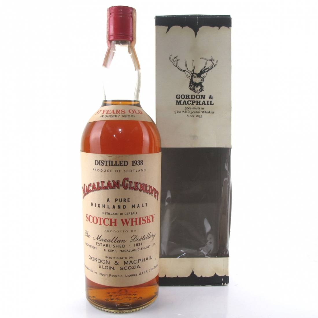 Macallan 1938 Gordon and MacPhail 37 Year Old / Pinerolo Import