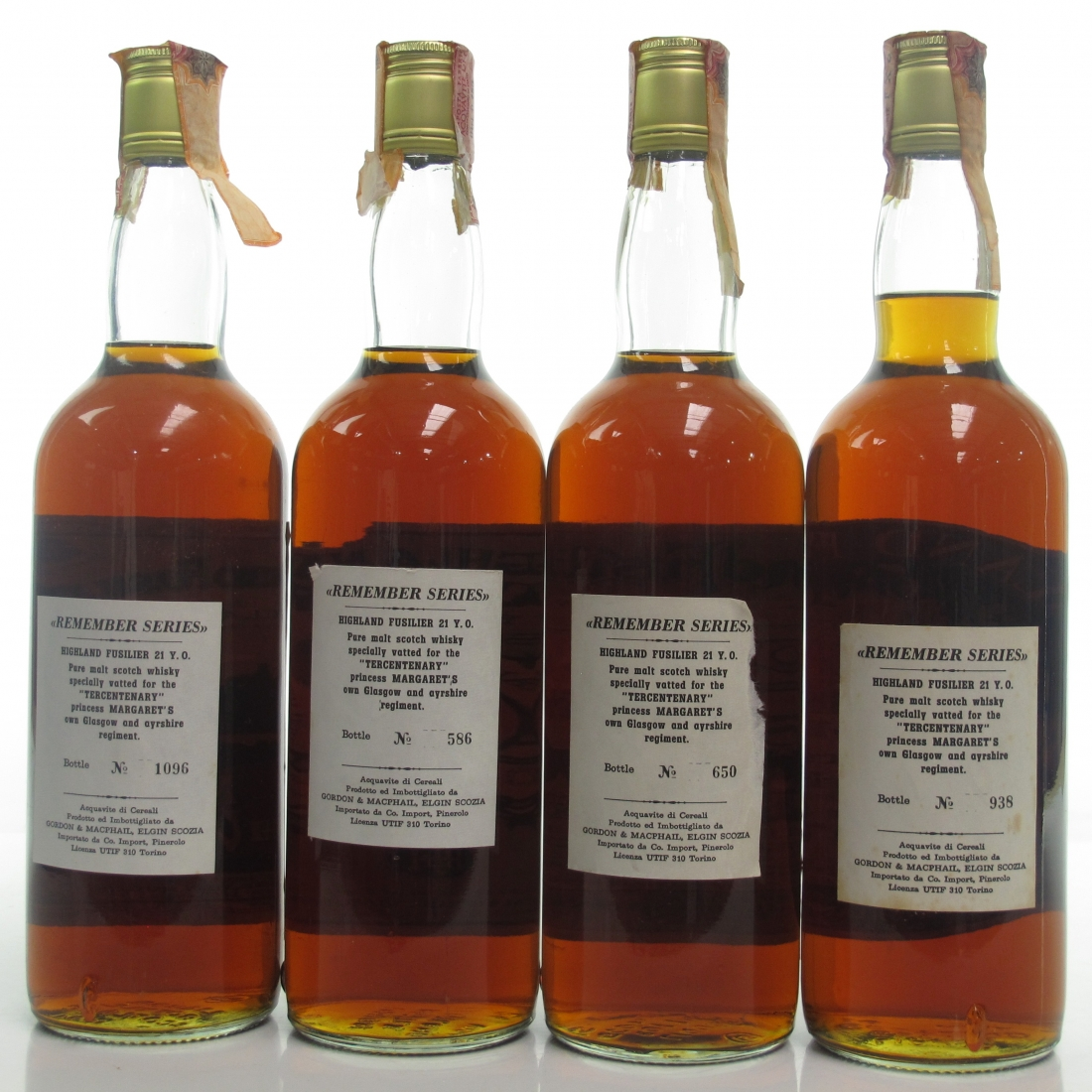 Highland Fusilier 21 Year Old 1978 'Remember Series' 4 x 75cl / Pinerolo Imports