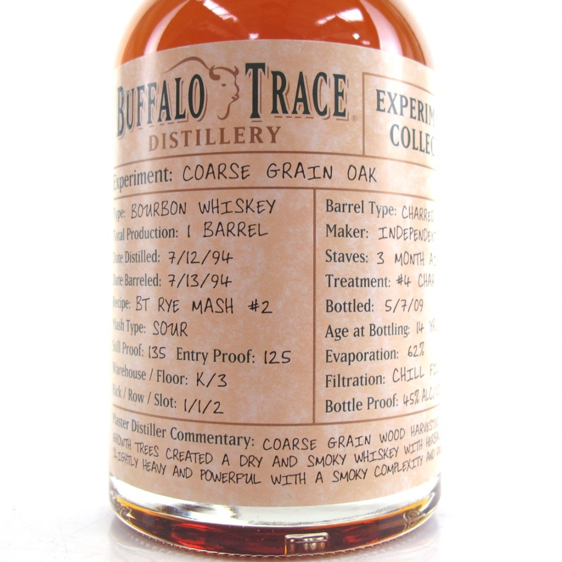 Buffalo Trace 1994 Experimental Collection 14 Year Old 37.5cl / Coarse Grain Oak