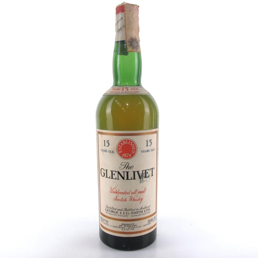 Glenlivet 15 Year Old 1960s / Baretto Import