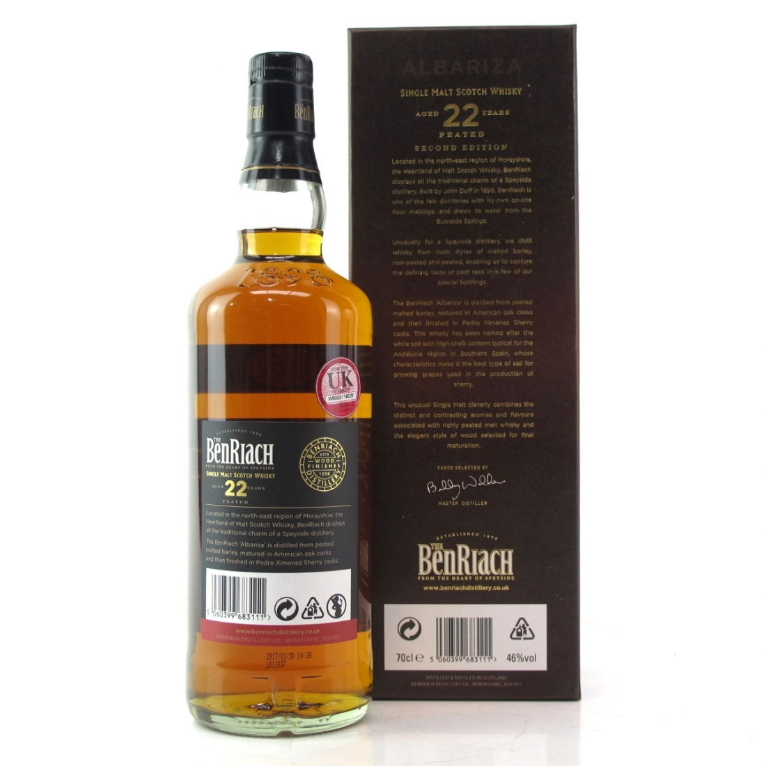 Benriach Albariza 22 Year Old Peated / PX Sherry Finish