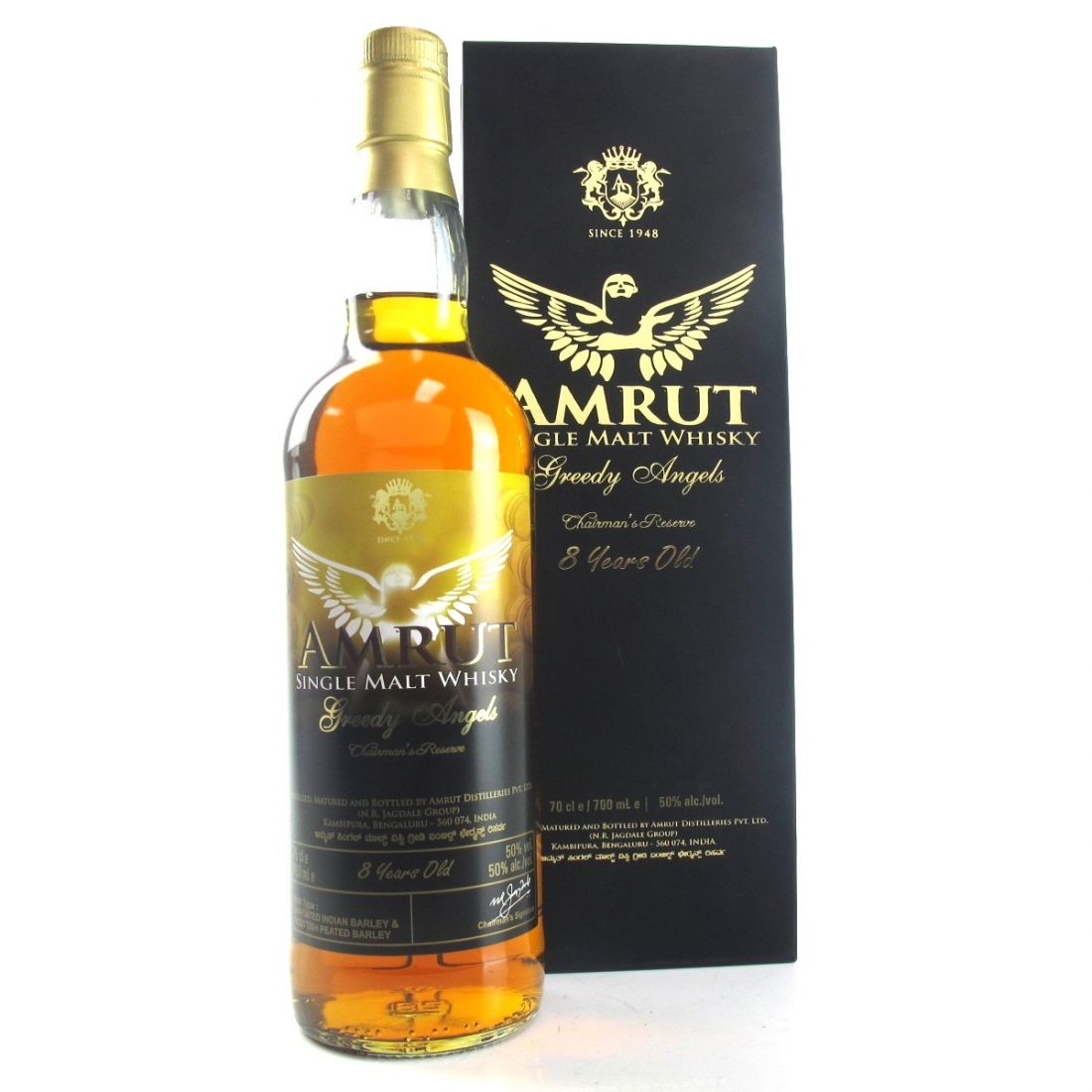 Amrut Greedy Angels 8 Year Old Chairman's Reserve