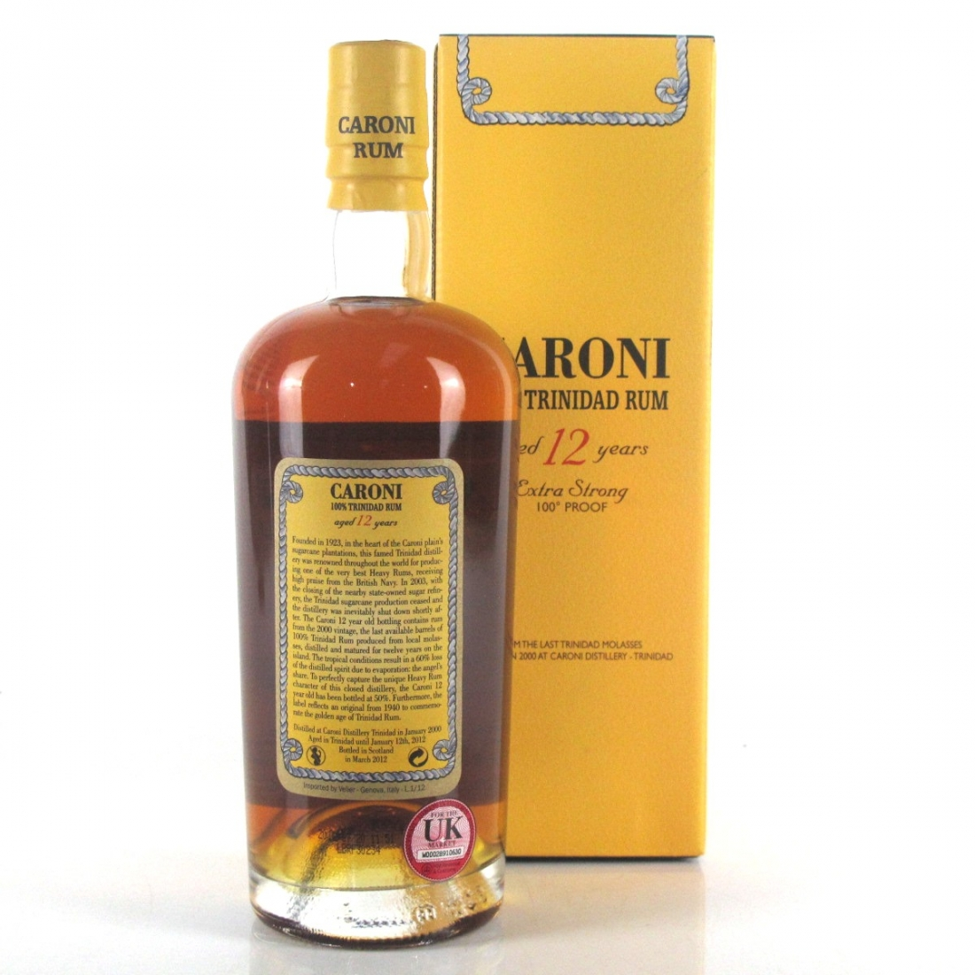 Caroni 2000 12 Year Old 100 Proof Rum