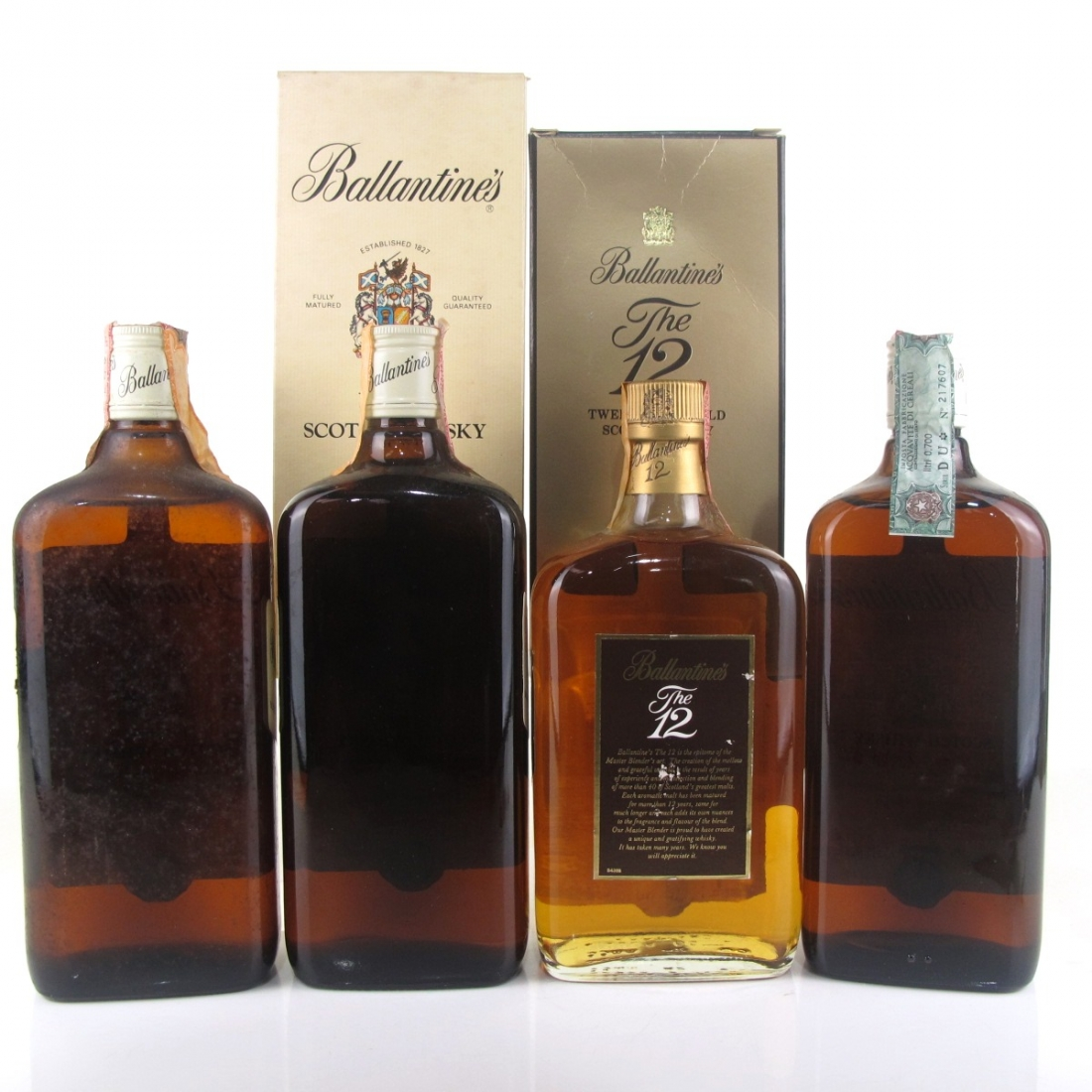 Ballantine's Selection x 4 / Including 12 Year Old 1980s