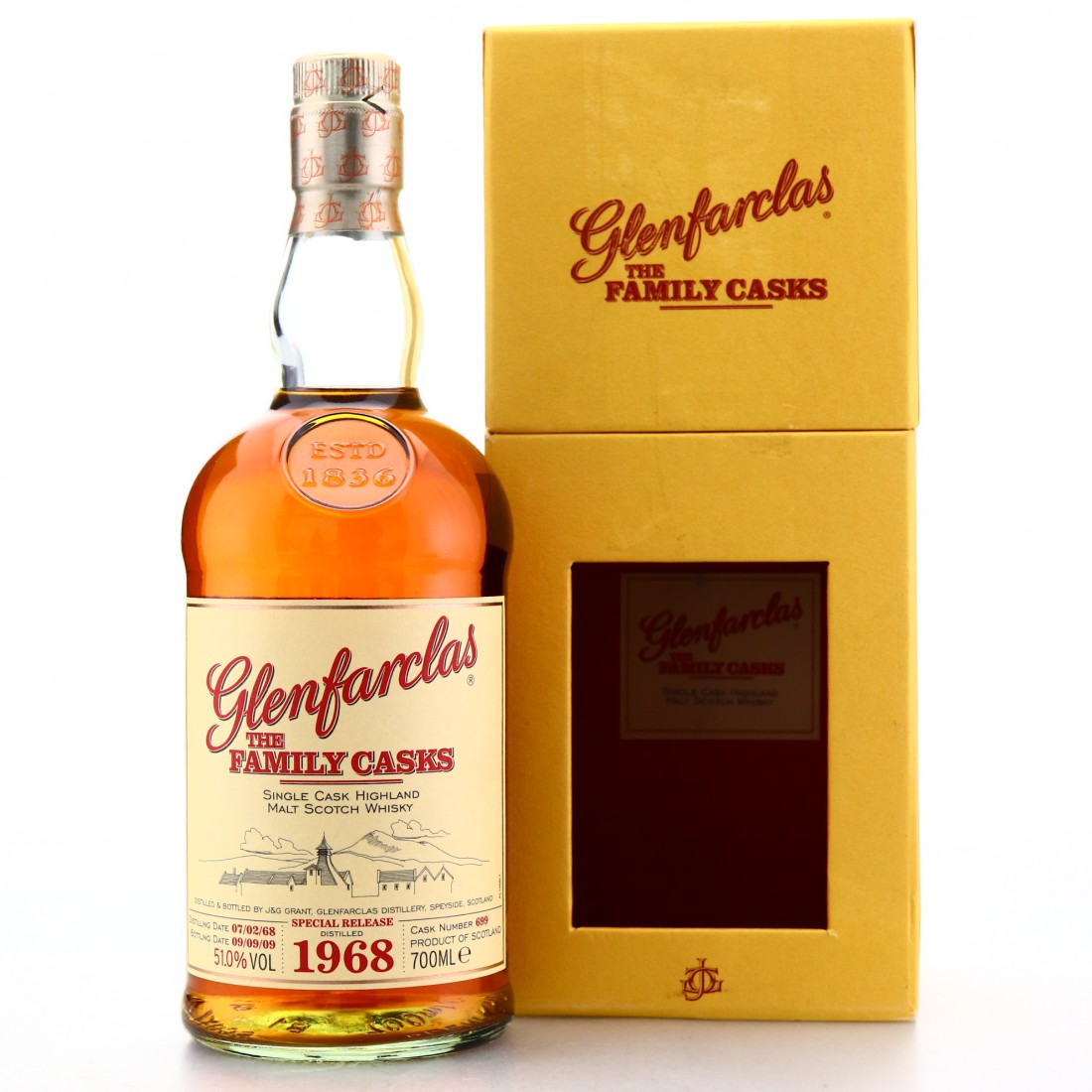 Glenfarclas 1968 Family Cask #699 / Lindores Whisky Society 5th Anniversary