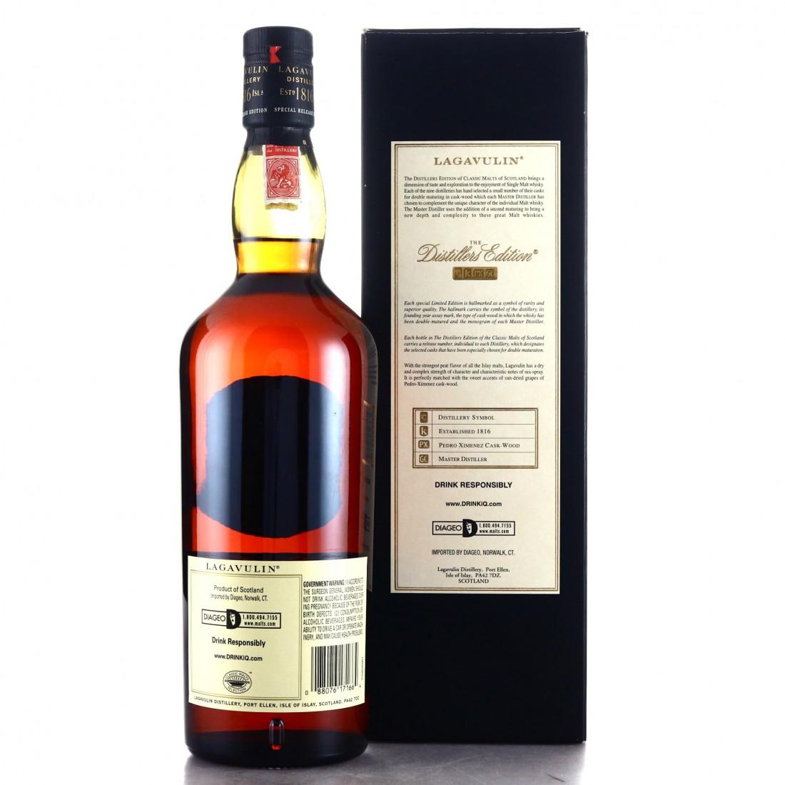 Lagavulin 1996 Distillers Edition 75cl / US Import