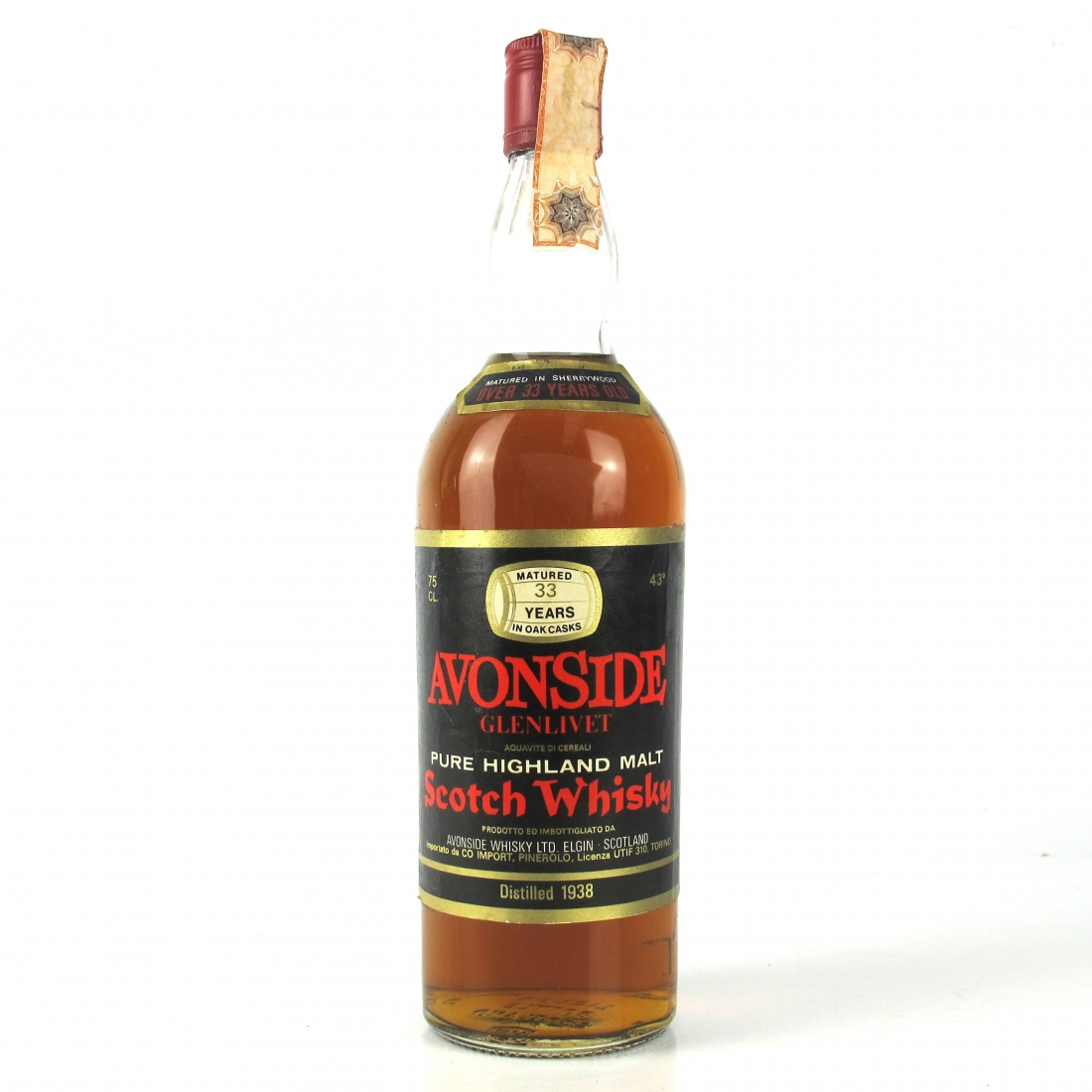 Avonside 1938 Gordon and MacPhail 33 Year Old / Pinerolo