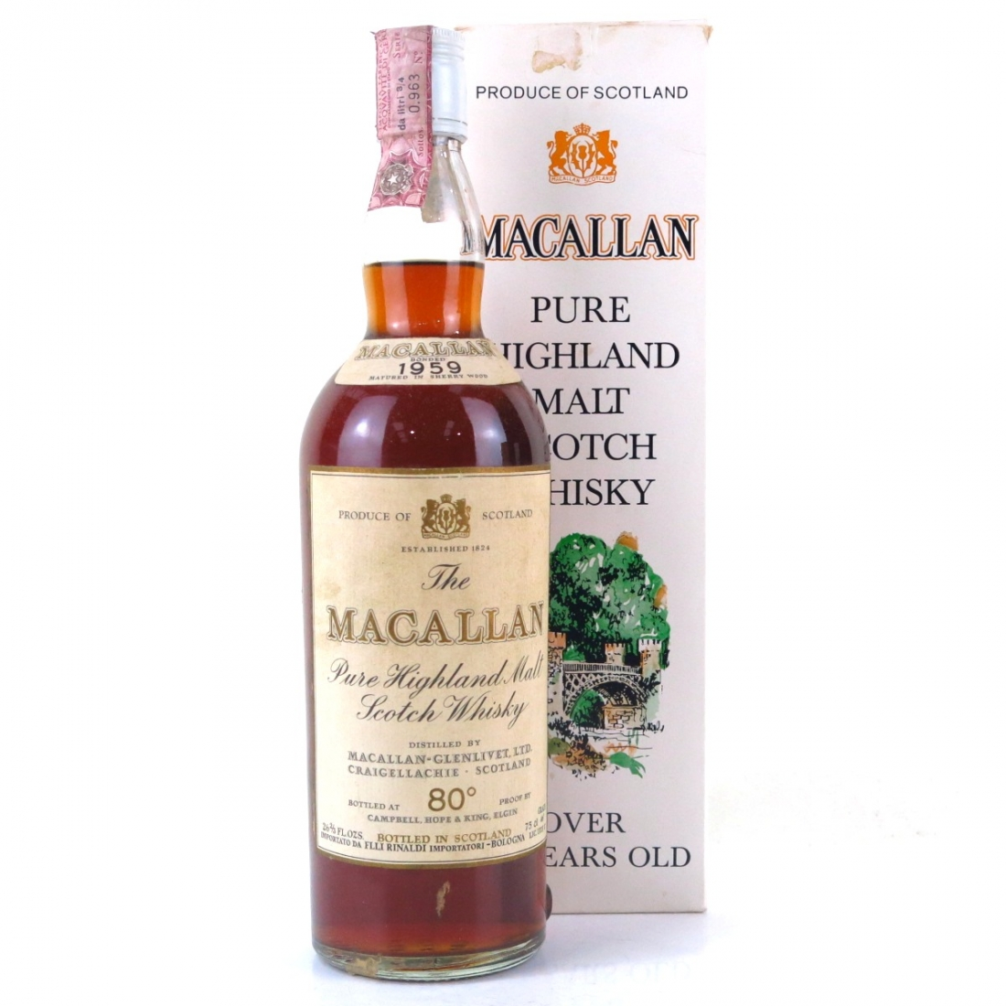 Macallan 1959 Campbell, Hope and King / Rinaldi Import
