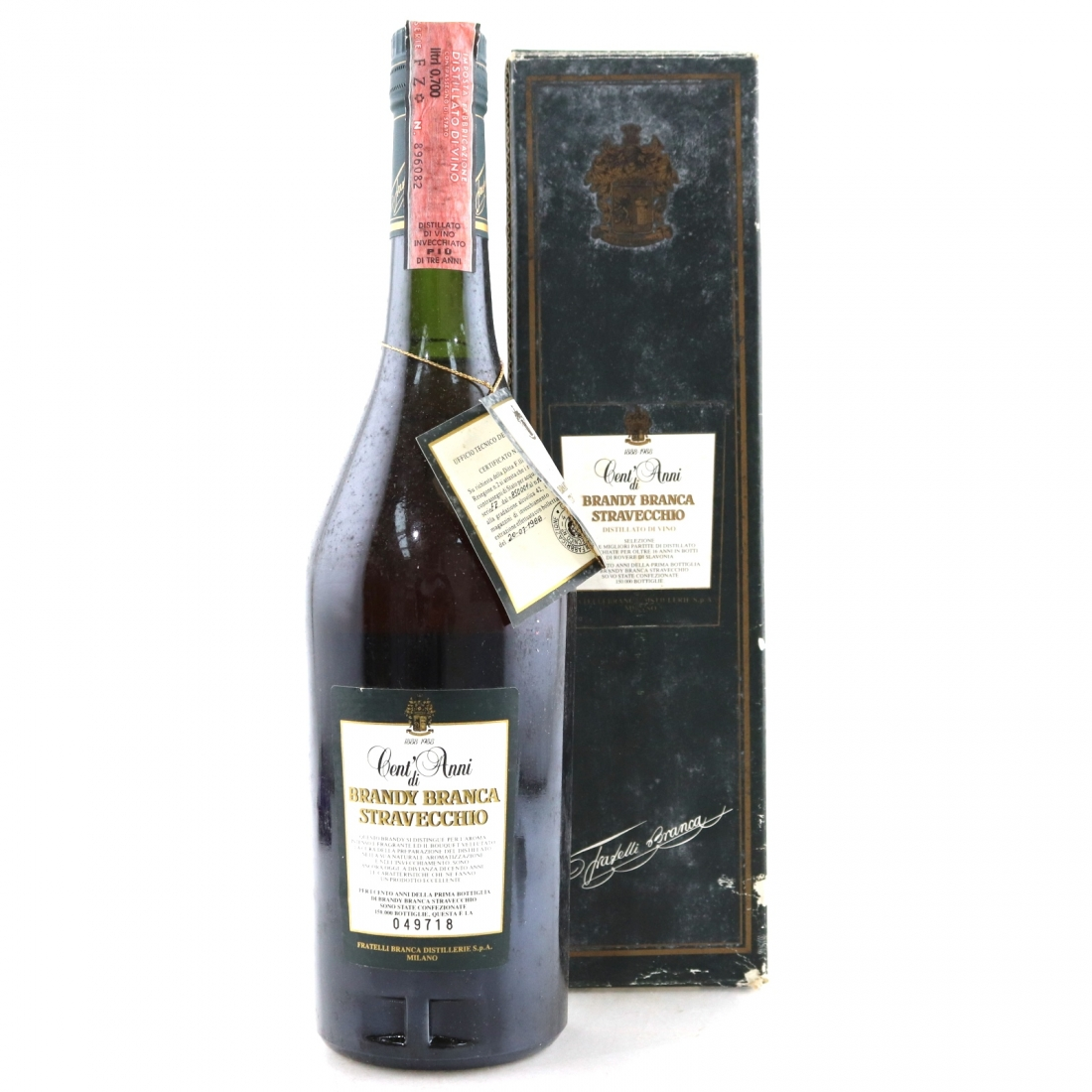 Stravecchio Branca Brandy 1988 / Centenary Release