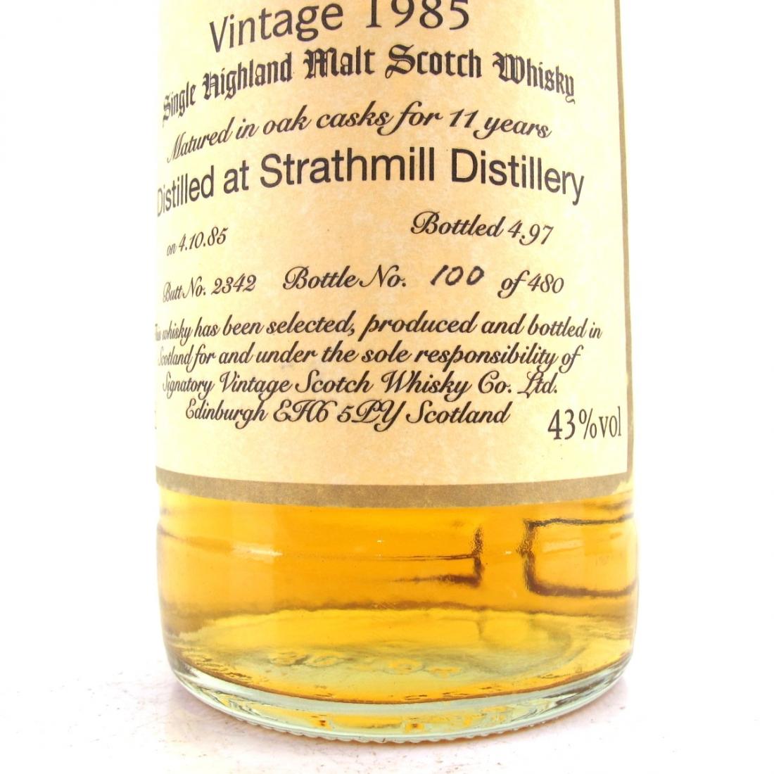 Strathmill 1985 Signatory Vintage 11 Year Old