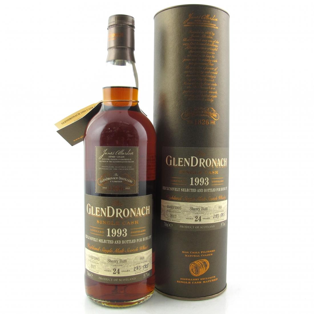 Glendronach 1993 Single Cask 24 Year Old #668 / Hong Fu
