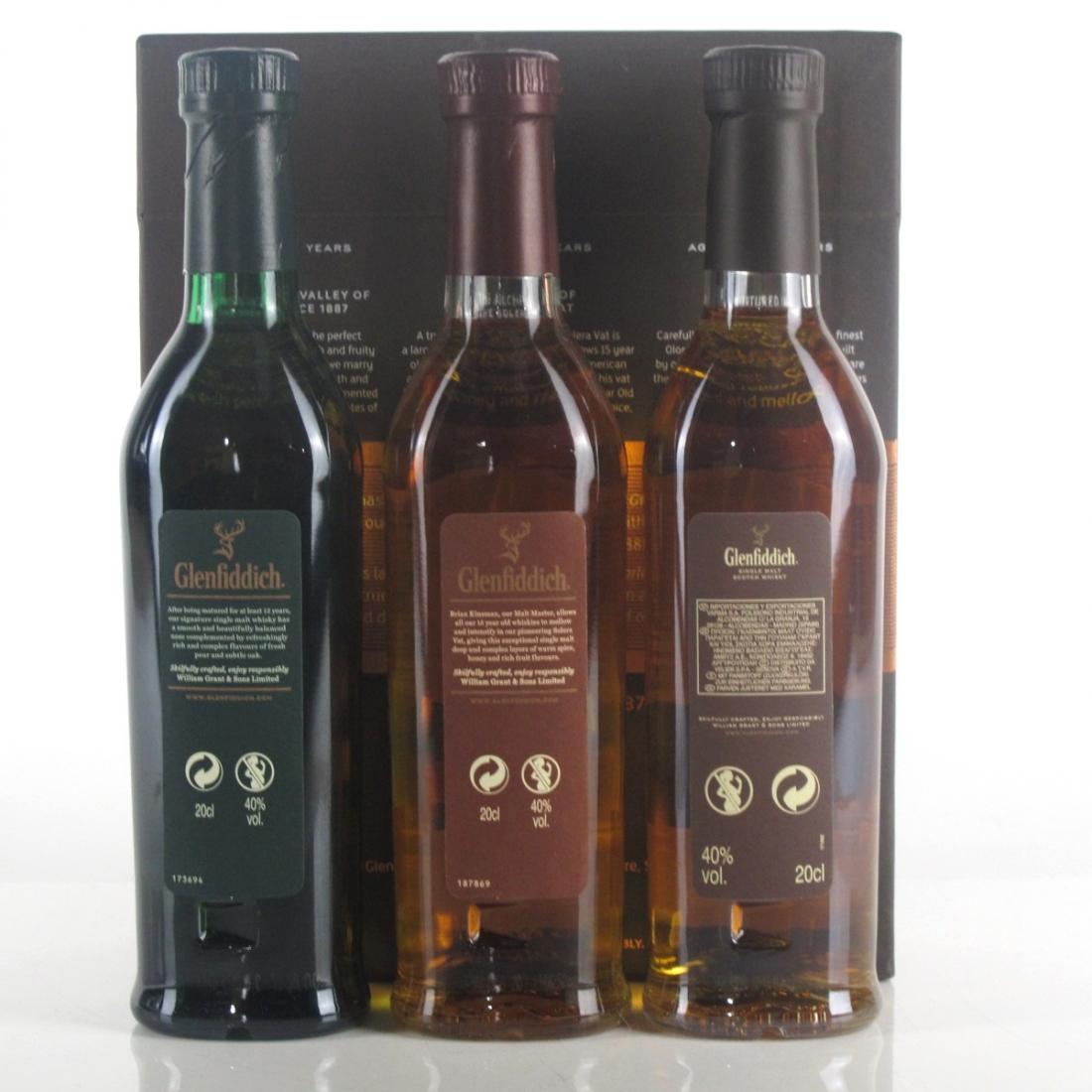 Glenfiddich Gift Pack 3 x 20cl