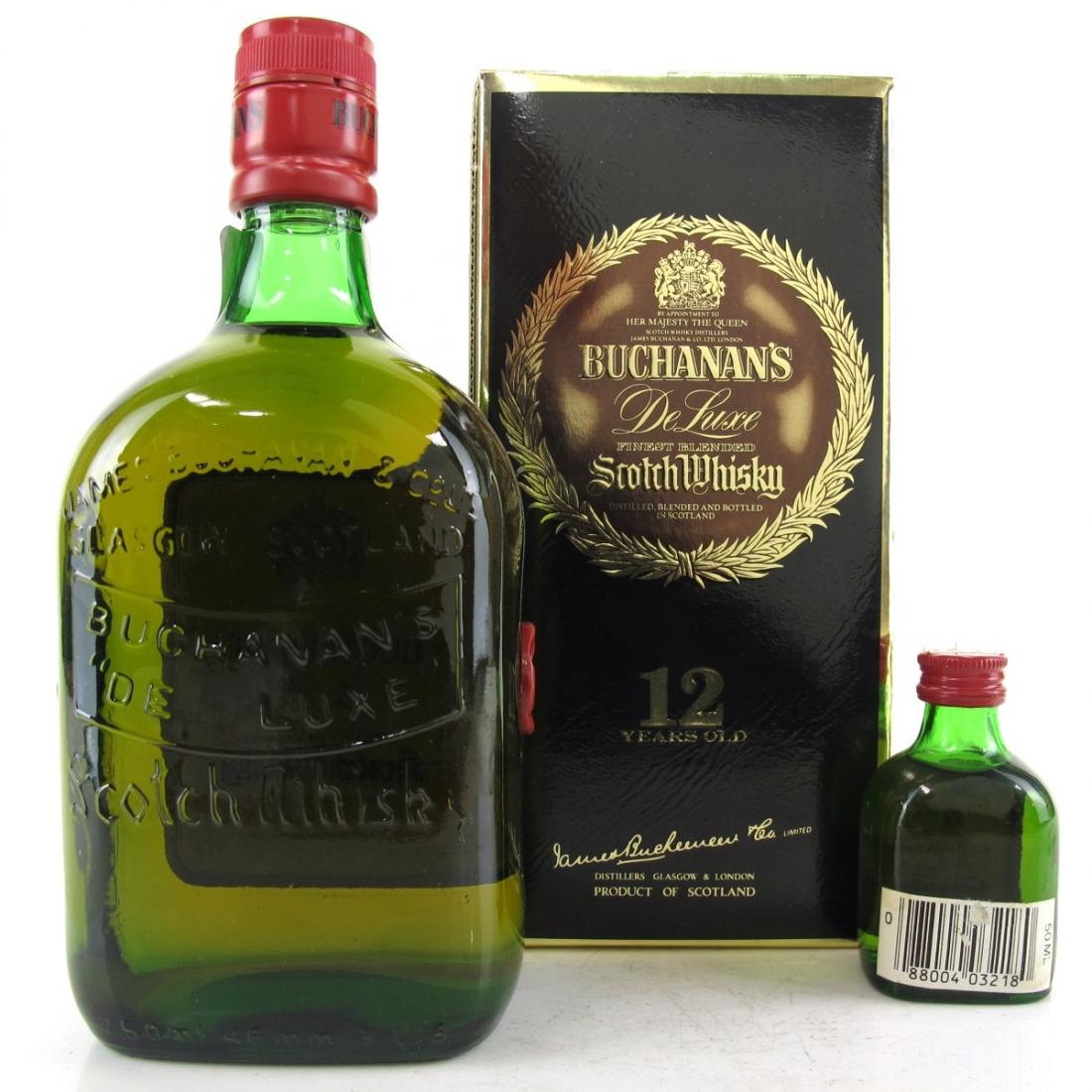 Buchanan's 12 Year Old De Luxe 1980s / with Miniature 5cl