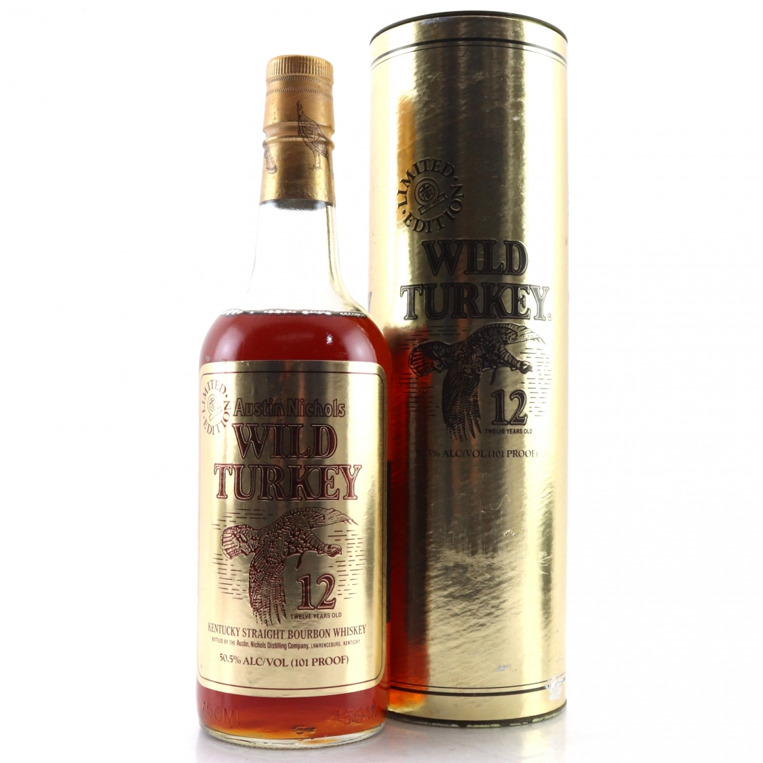 Wild Turkey 12 Year Old 101 Proof Limited Edition 1990s